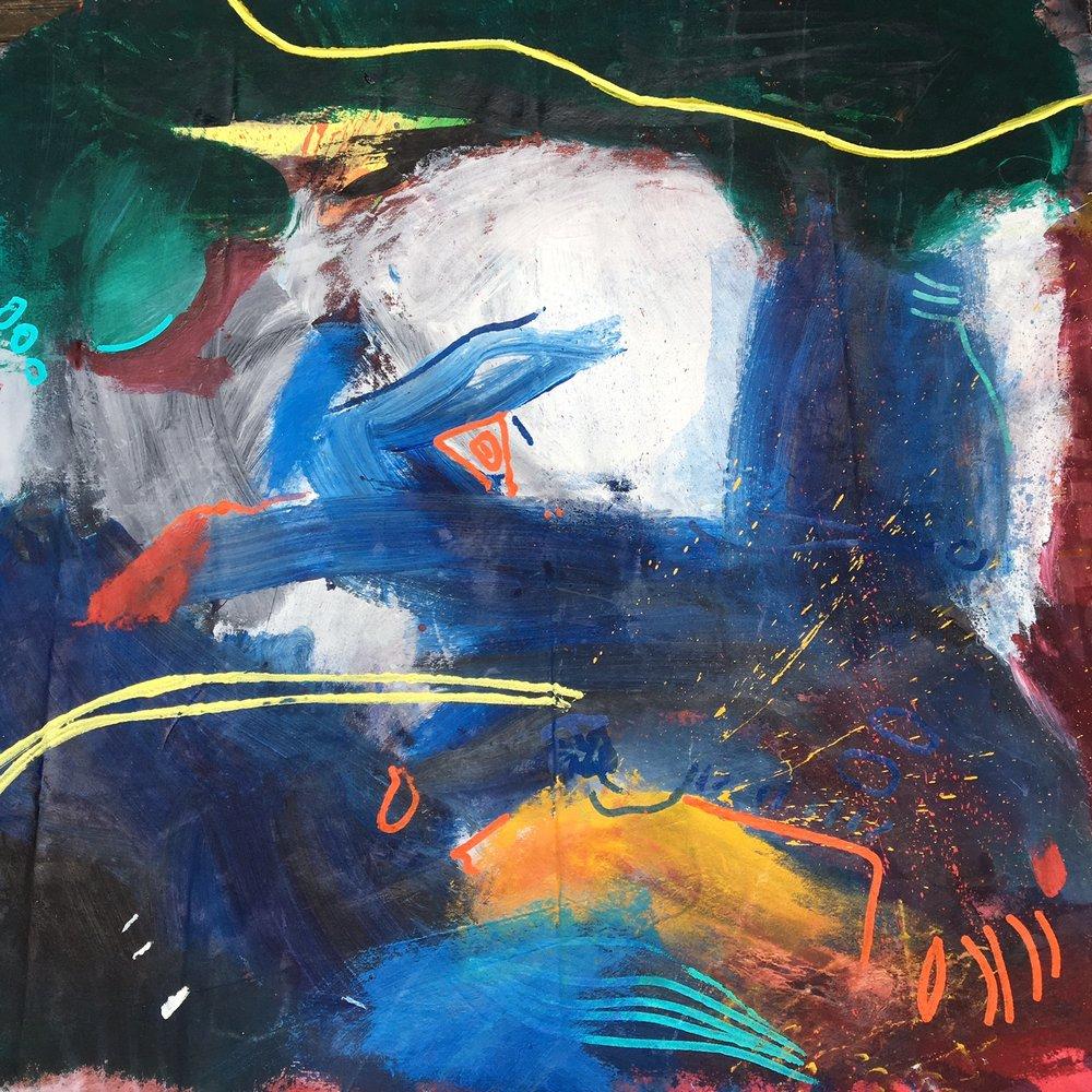 Acrylic on canvas,