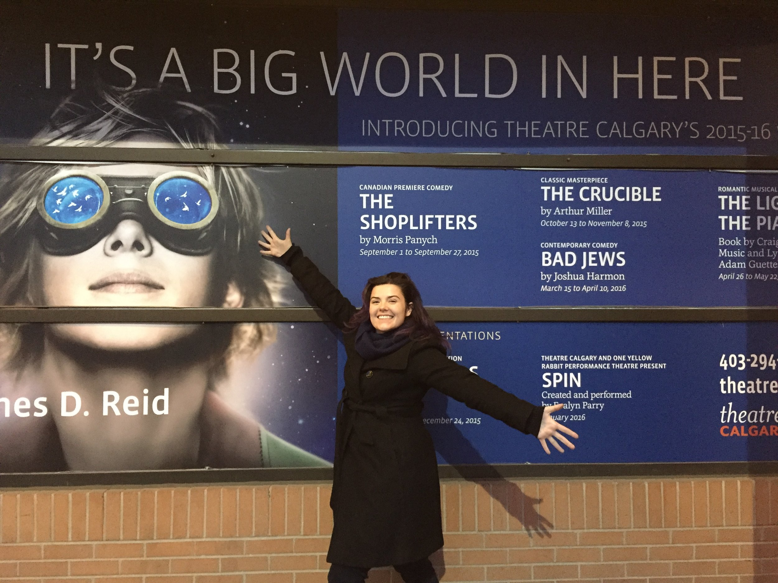 Outside Theatre Calgary