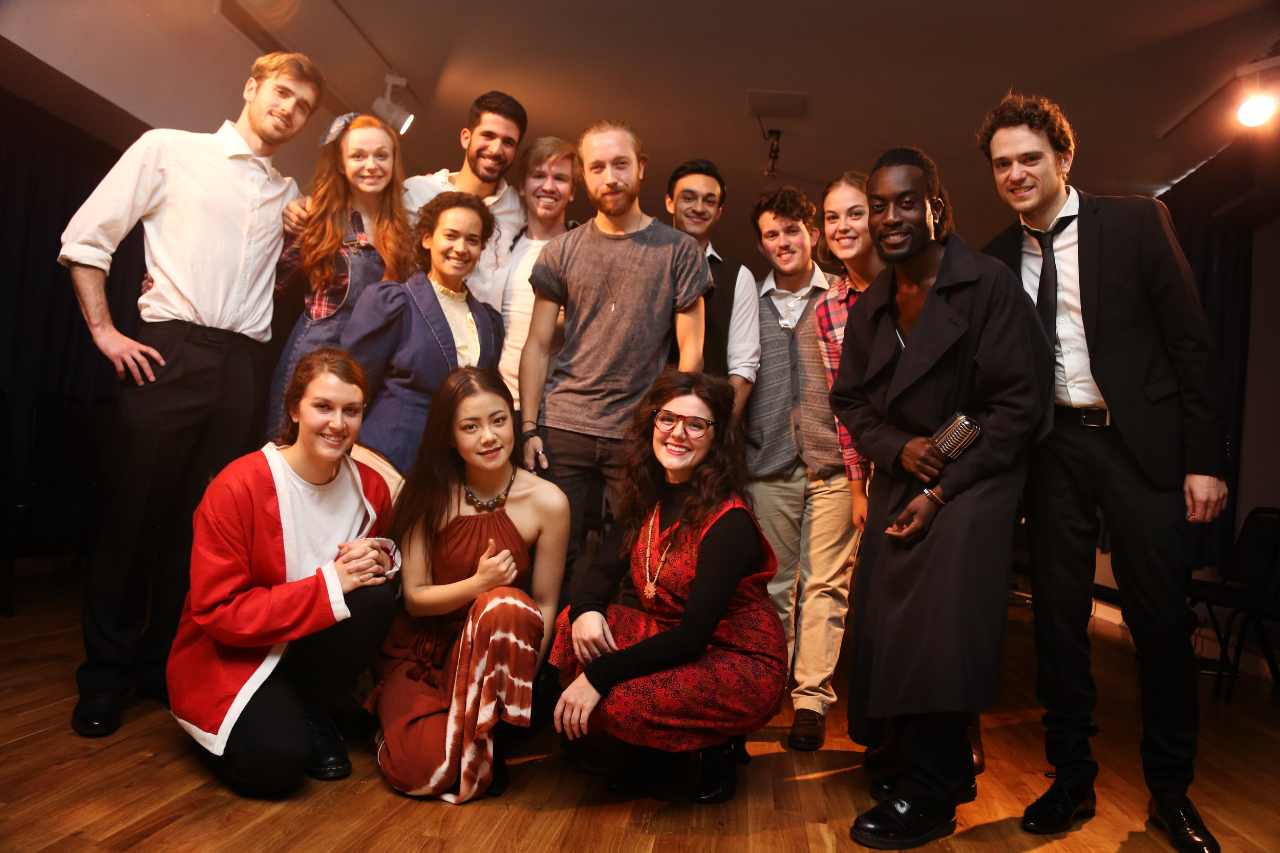 The cast of Assassins with the amazing director Rupert Hands