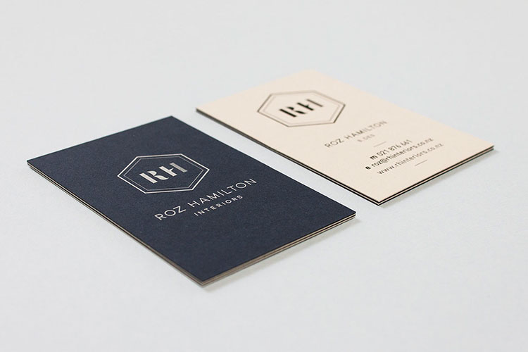 Roz Hamilton Interiors Business Cards