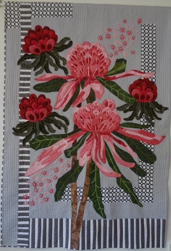 Ena's Pink Waratah's. 116w x 172h