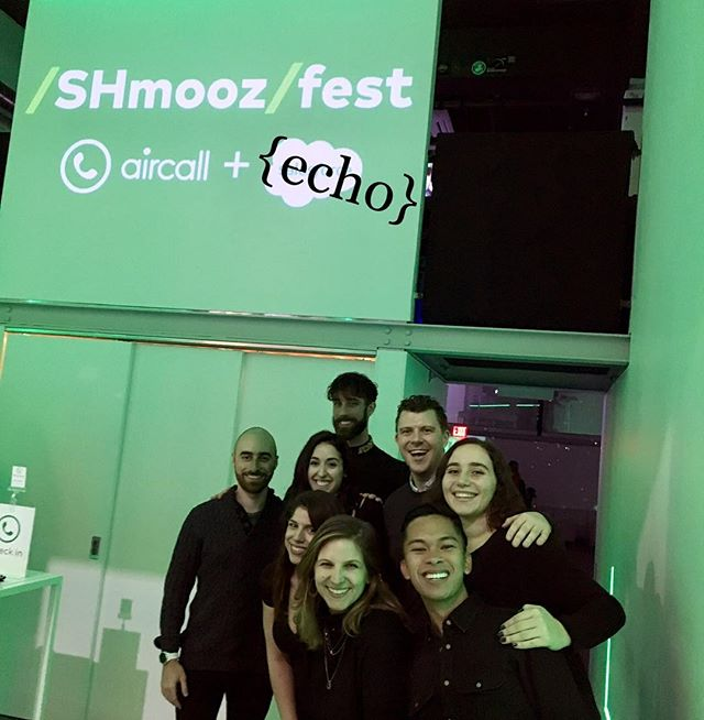 Thank you @aircall.io for having us sing a welcome jingle at your #shmoozefest!!!! We had such an awesome time complimenting everyone as they came in!! #aircall #jingle #acappella