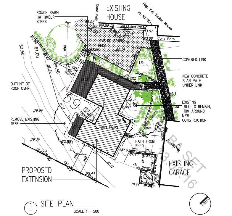 Site plan 1:00 or 1:200