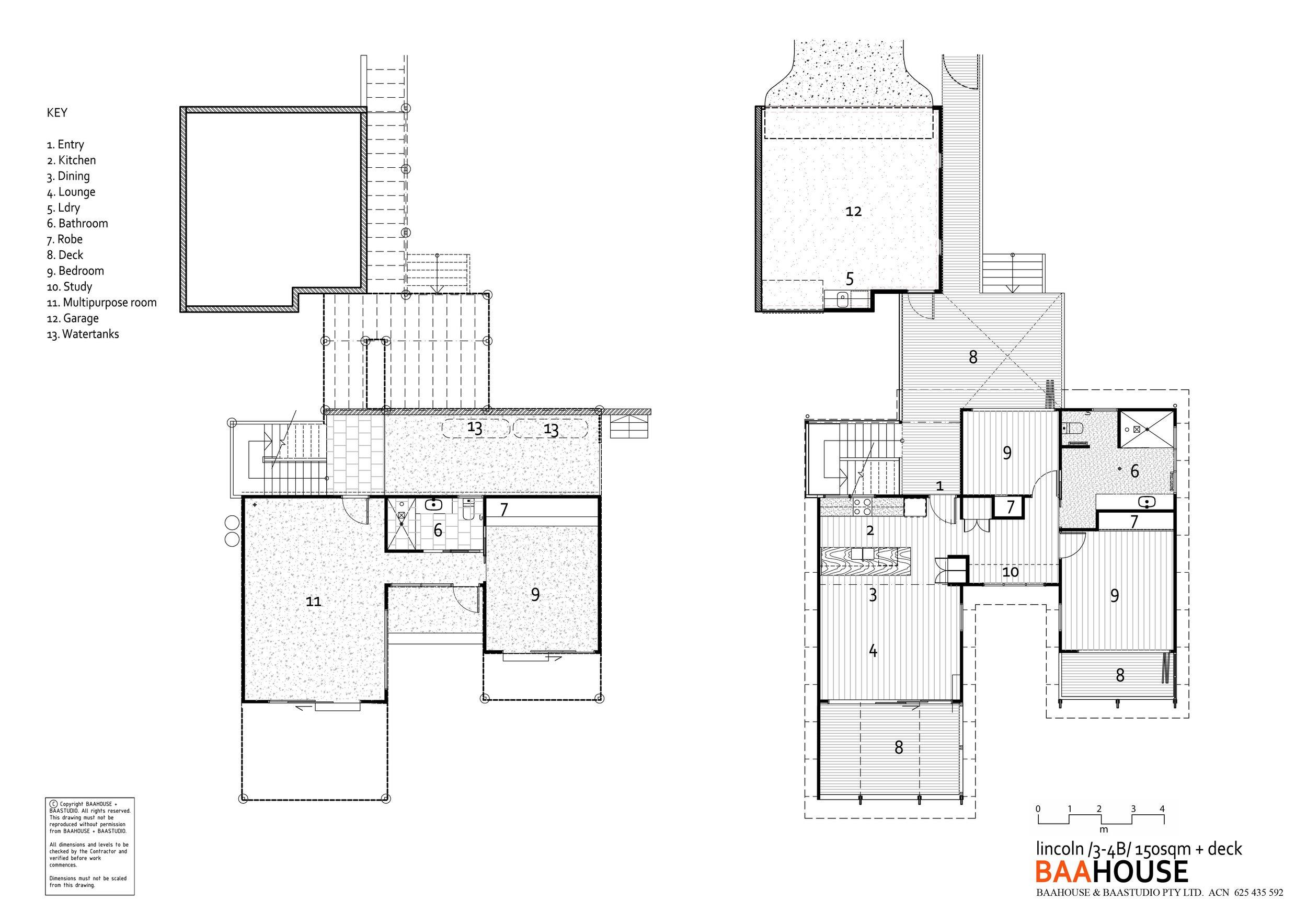 Lincoln 3/4 bedroom 2 level design