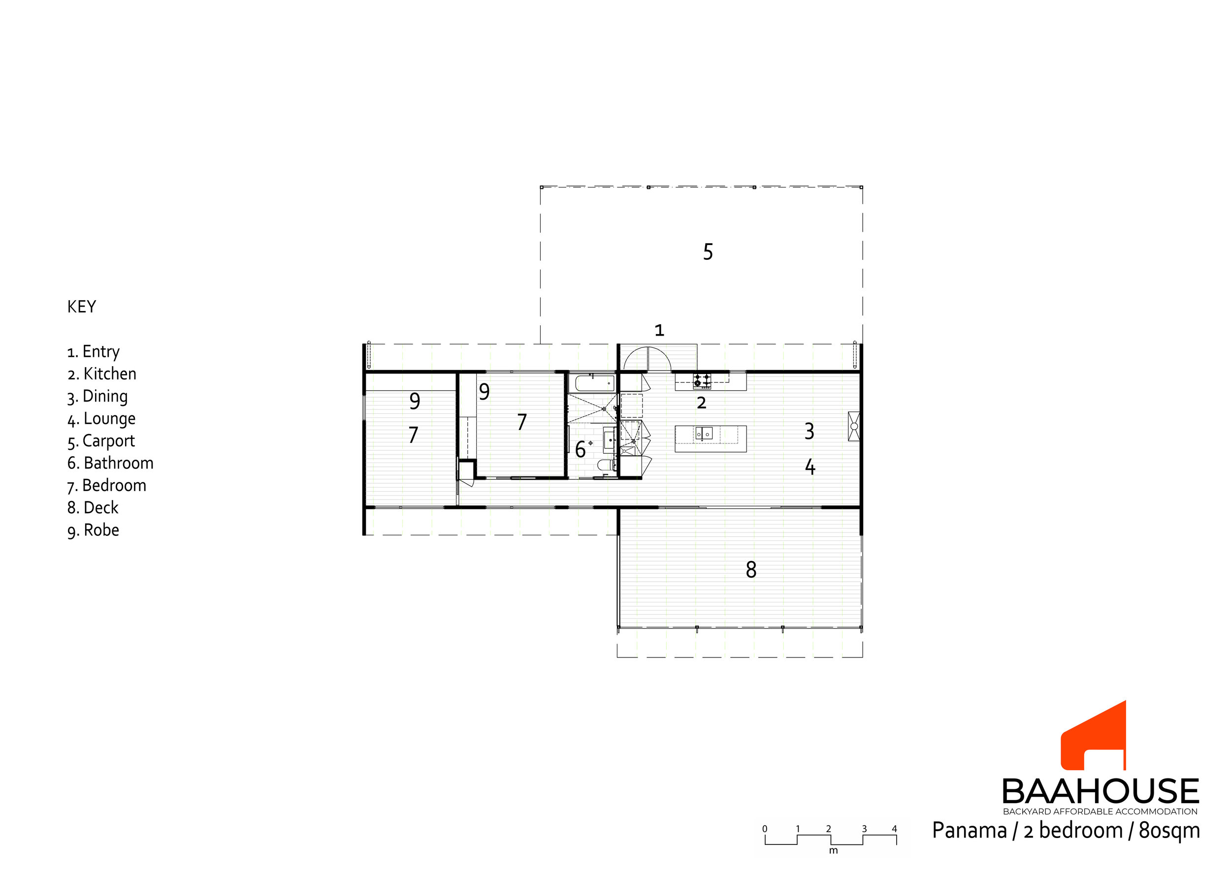 Panama Long House floor plan