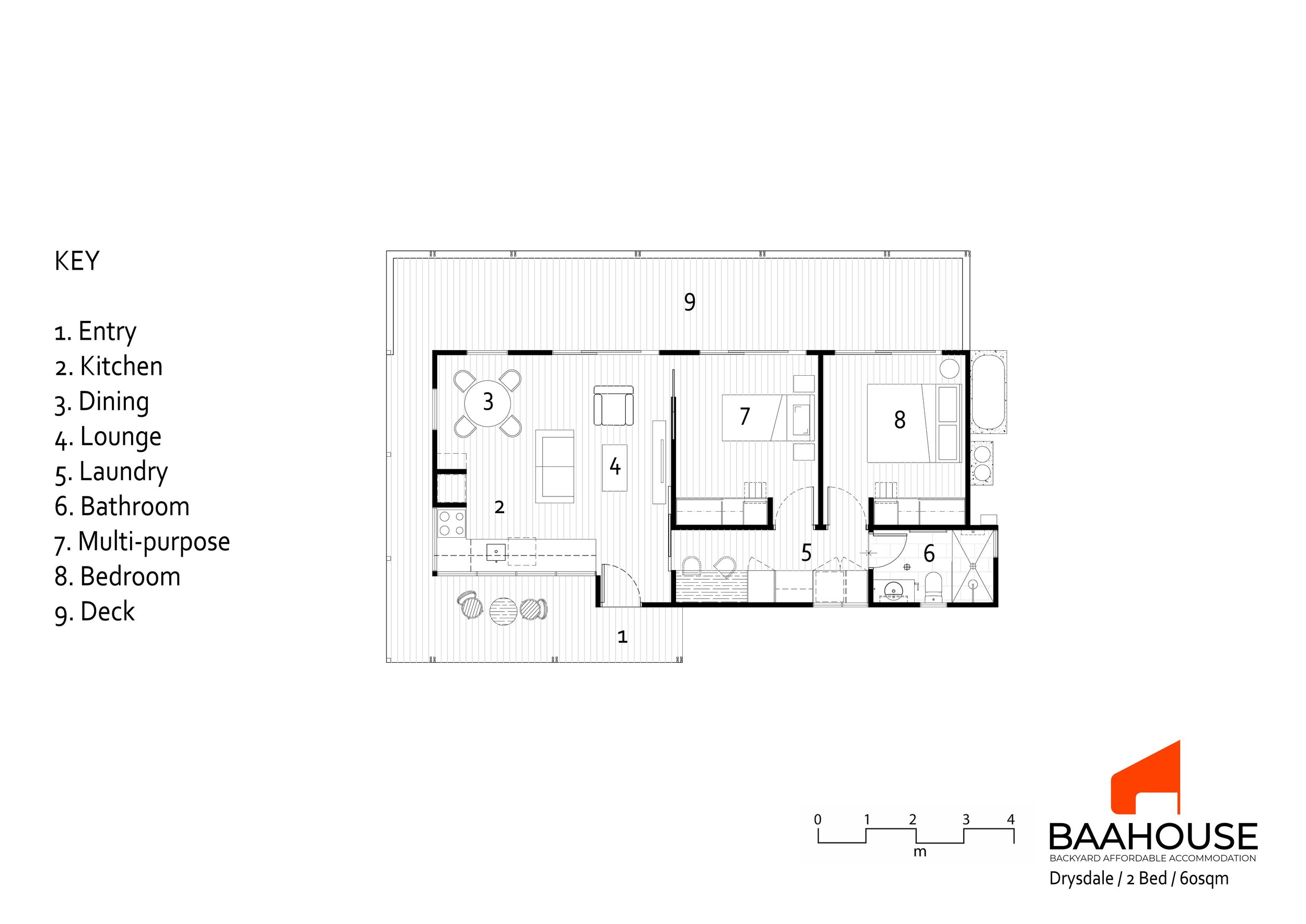 2 Bedroom 60sqm Drysdale design