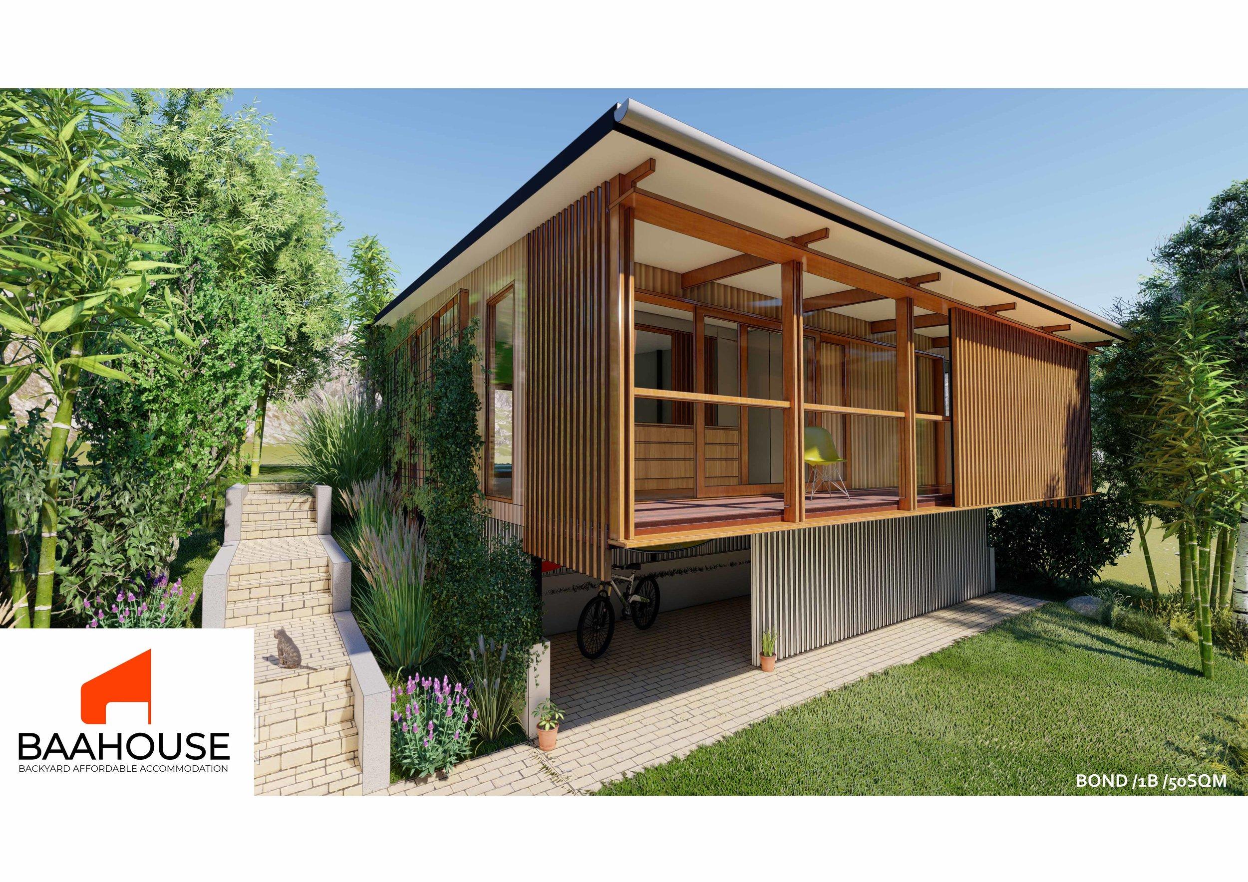 Bond/1B/50sqm — Baahouse / Granny flats / Tiny House / Small houses
