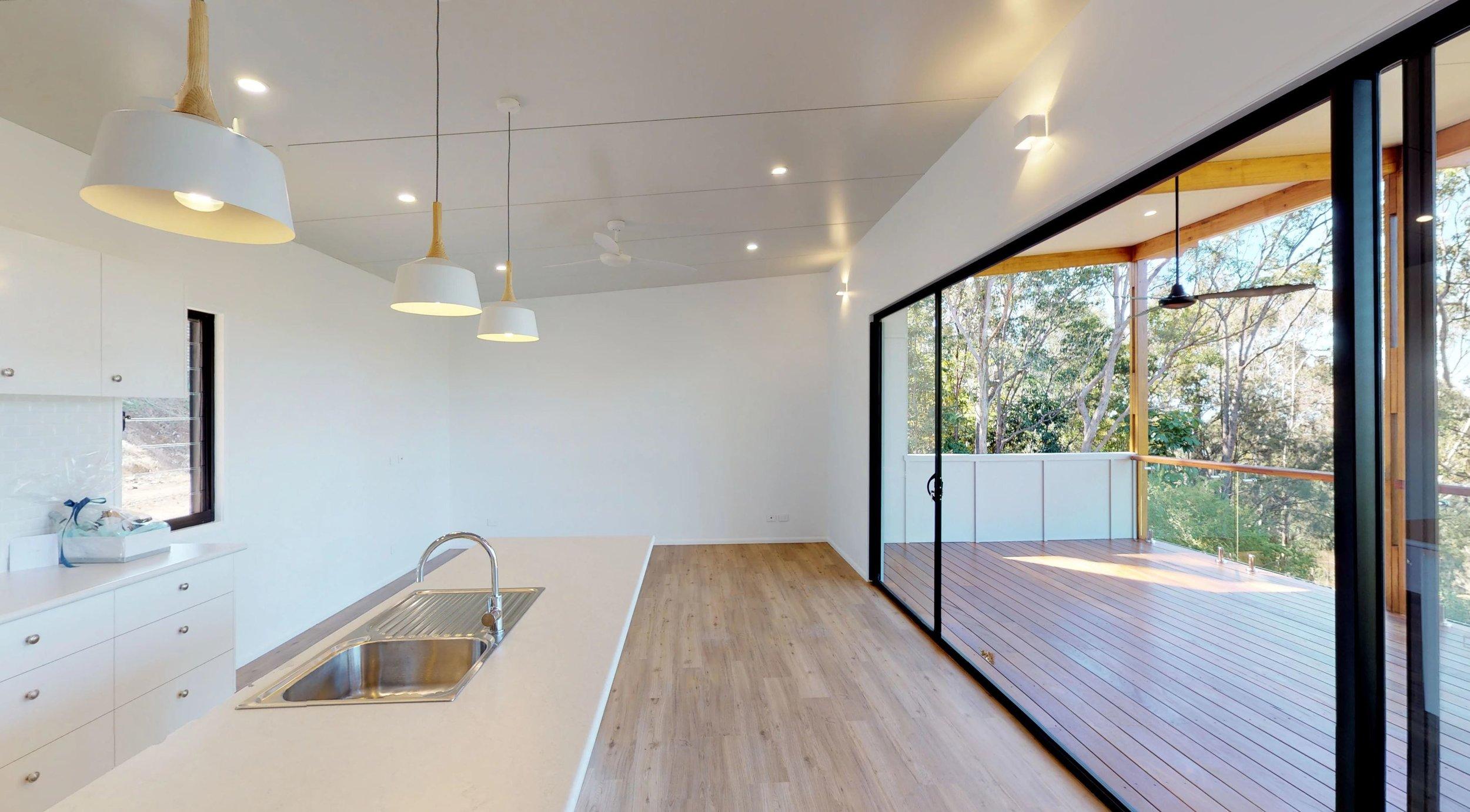 Kitchen / Lounge / Deck view