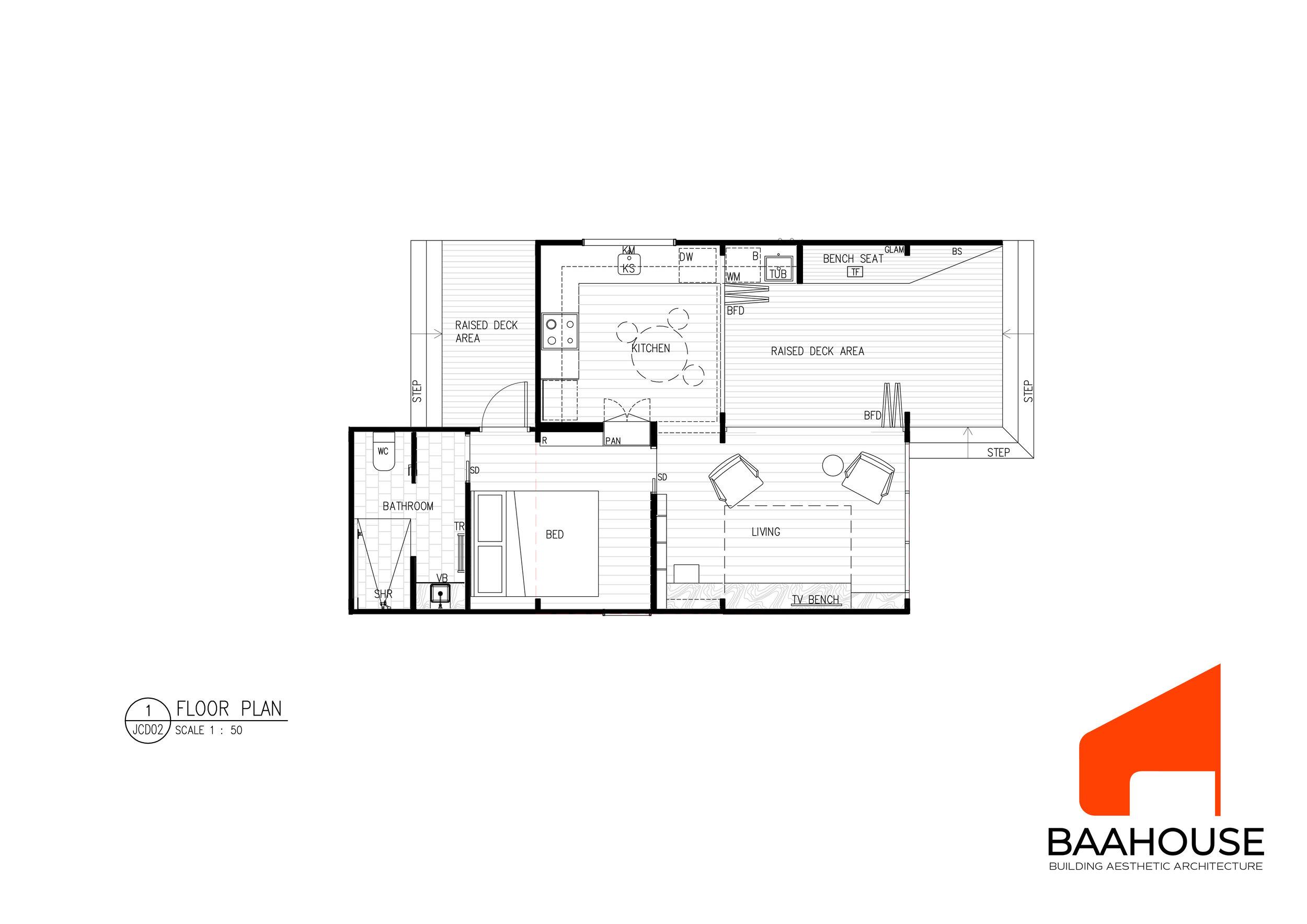 BAAHOUSE MODULAR- 1 BEDROOM OPTION 2