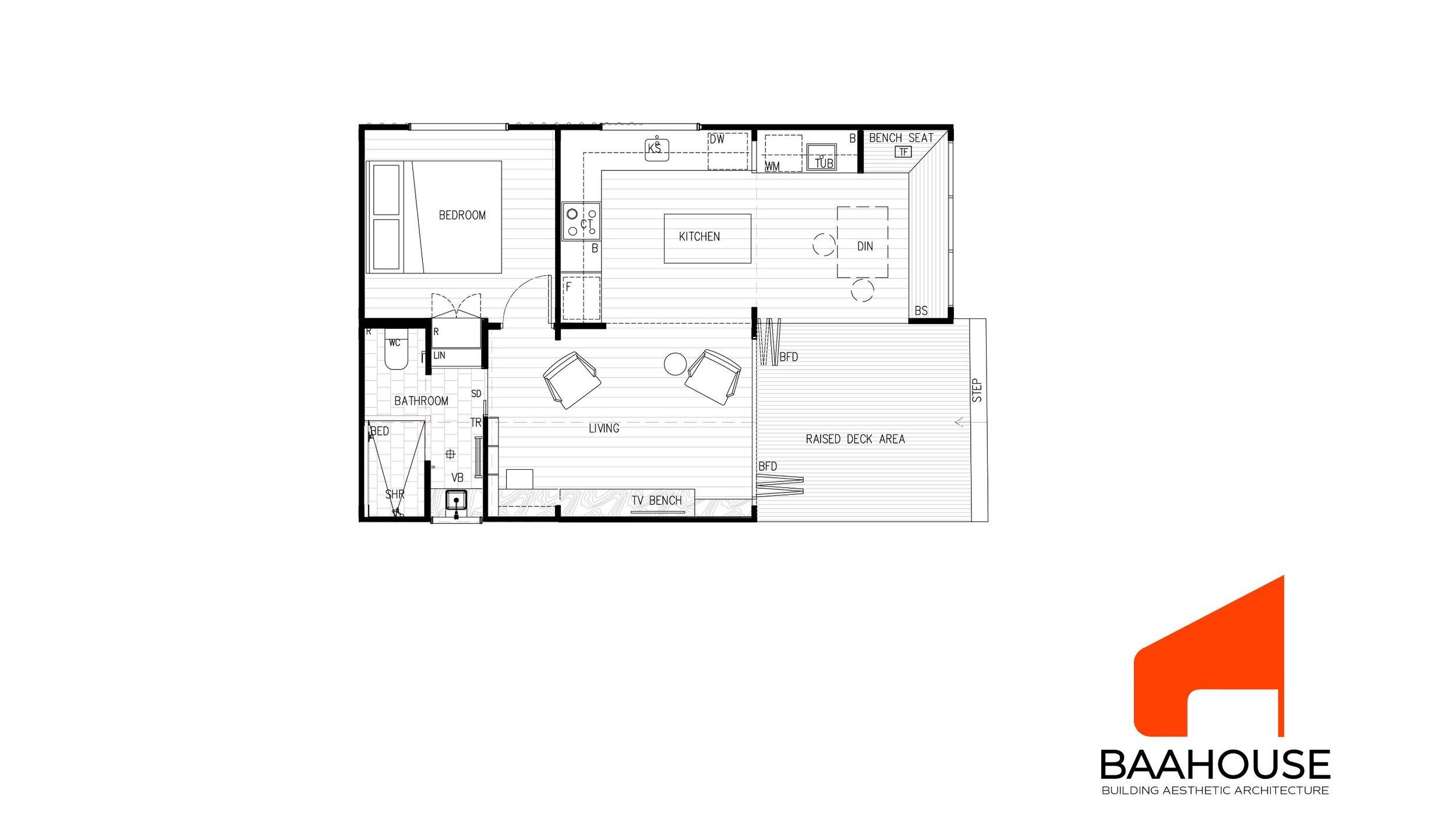 BAAHOUSE MODULAR- 1 BEDROOM OPTION 1
