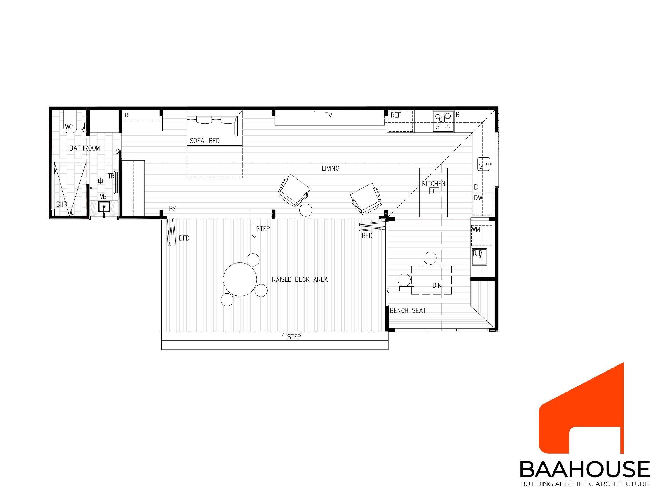 BAAHOUSE MOD- 1 BEDROOM OPTION 3