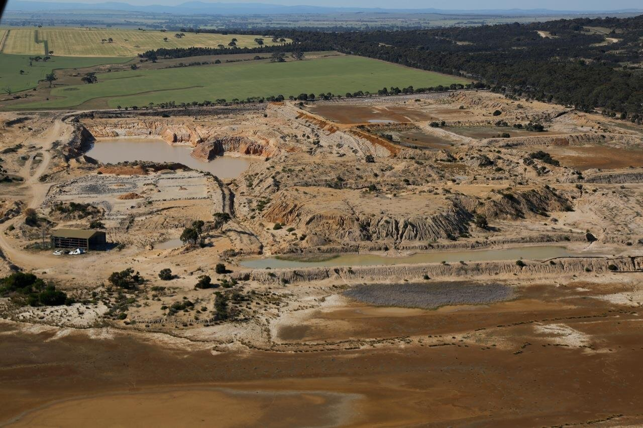 credit: Photo of the Holcim and Hanson mine by John Pettit