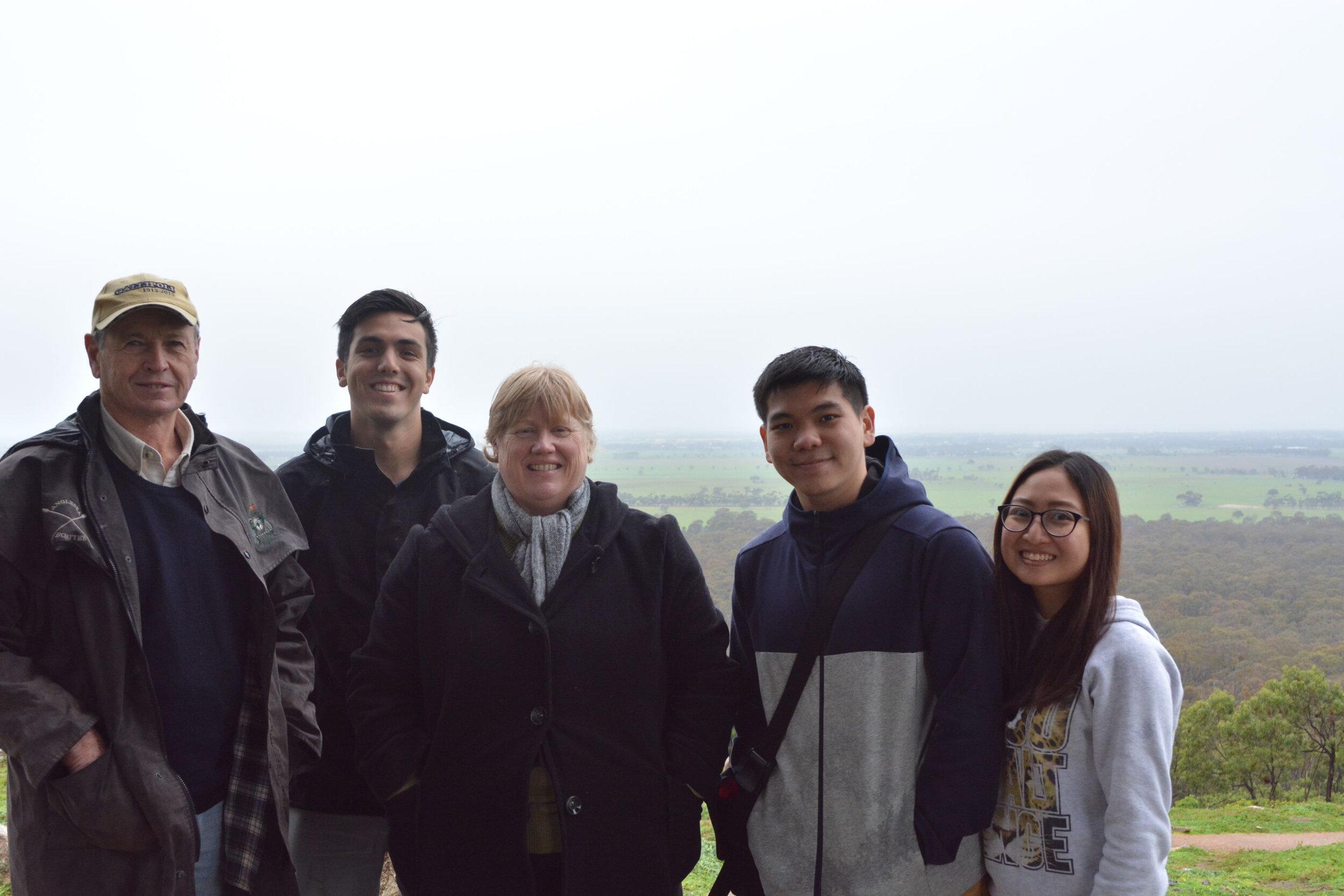 L-R | Barry White, Nicholas Soraghan (reporter), Sally Nicholas, Joshua Tay Hanwen (reporter), Wan Li Loh (reporter)
