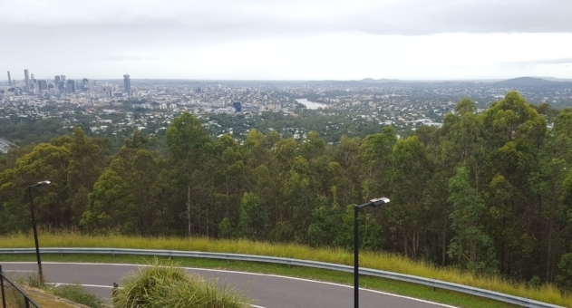 View from the top of Mt. Coot-tha looking onto Brisbane