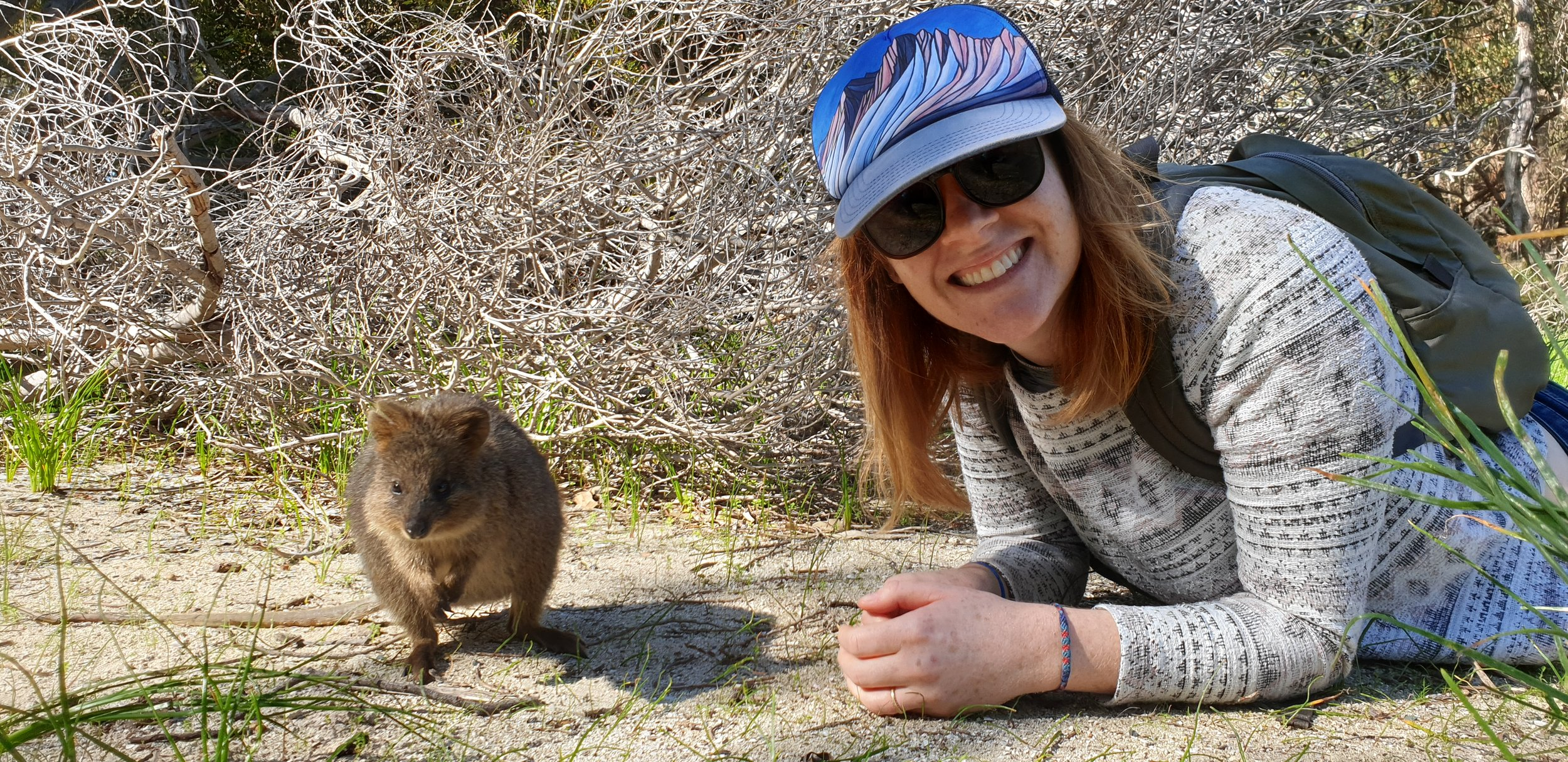 And we may have gotten a quick chance to visit Rottnest Island to visit some quokkas (pictured Dr. Natalie Jones)