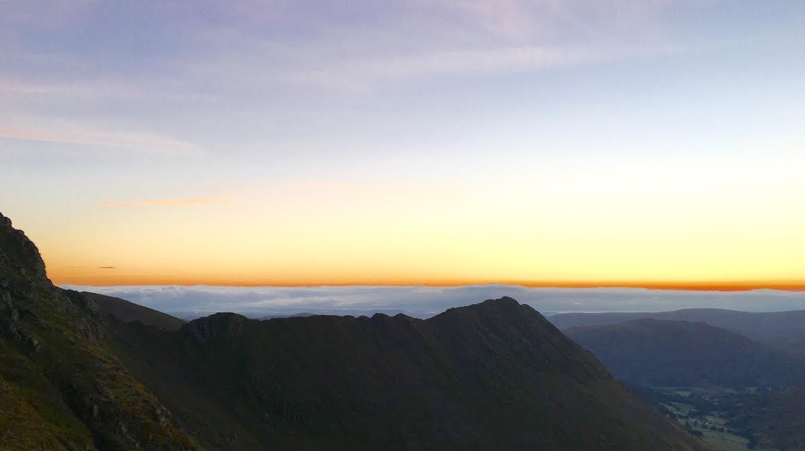 Striding Edge at dawn.