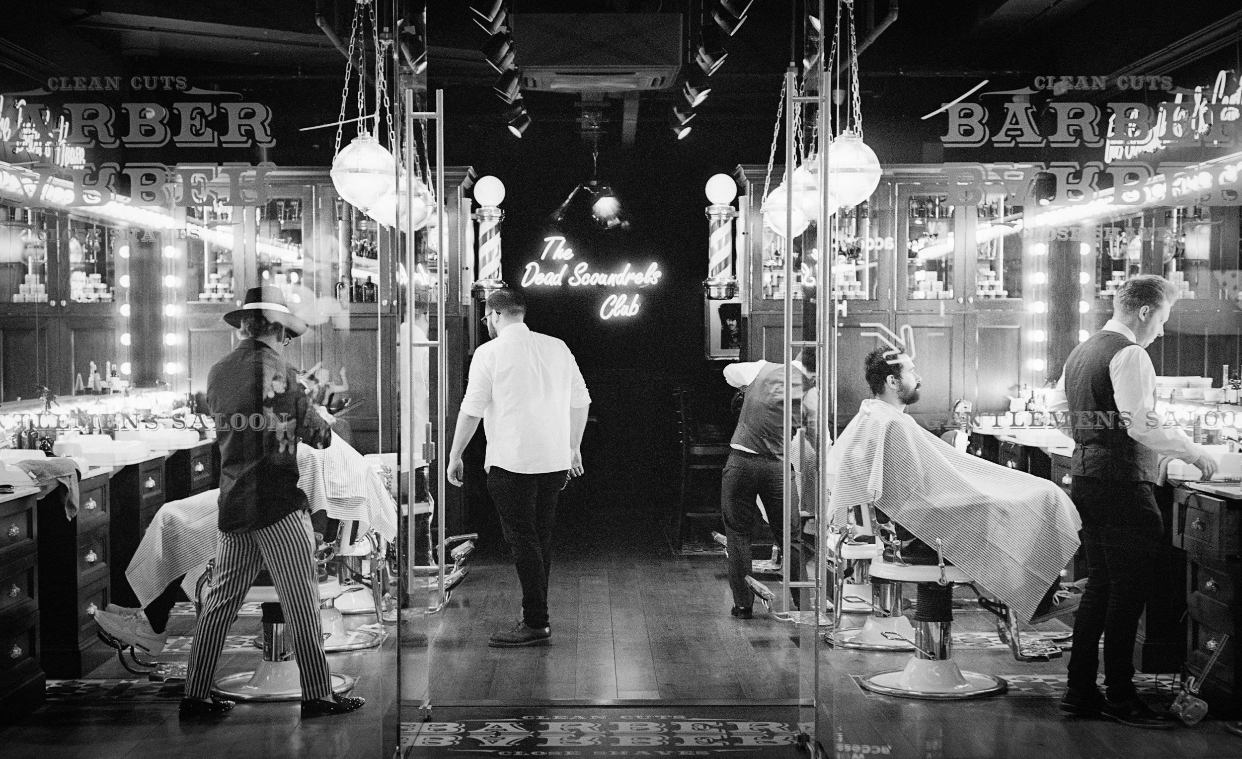 The scoundrels at work, Barber Barber, Birmingham