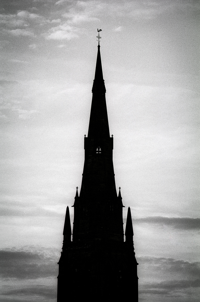St Mary's in Lichfield on Ilford FP4+ in LC29