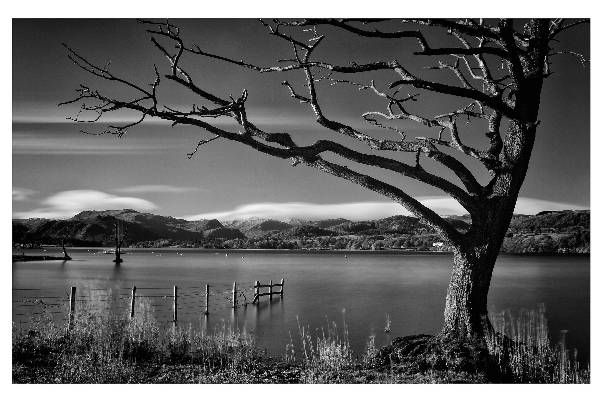 Barnaby Nutt,  200 Seconds Over Ullswater,  shot digitally using a 10-stop neutral density filter.