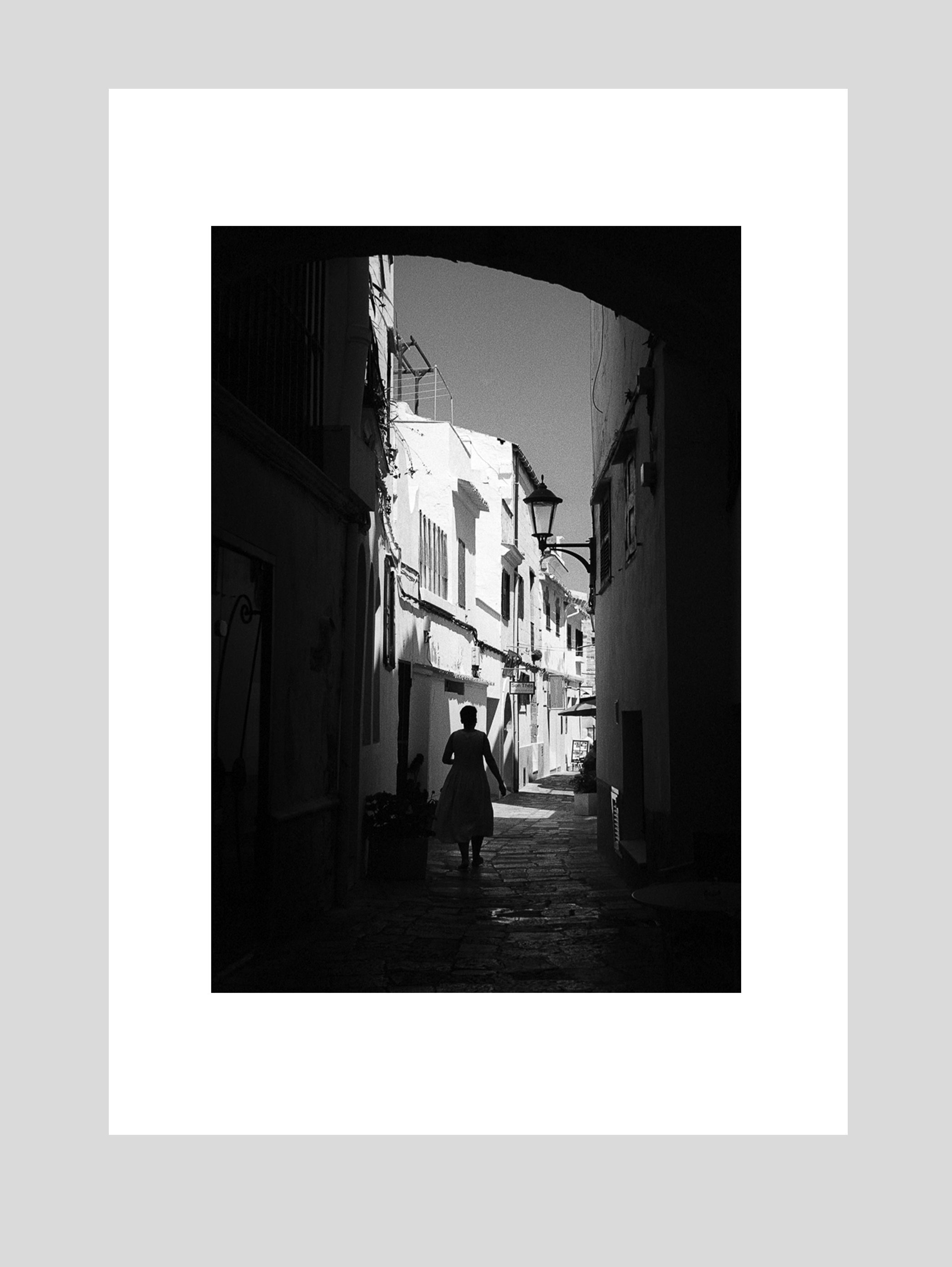 Alleyway, Menorca - A4 print on Canson Baryta Photographique paper