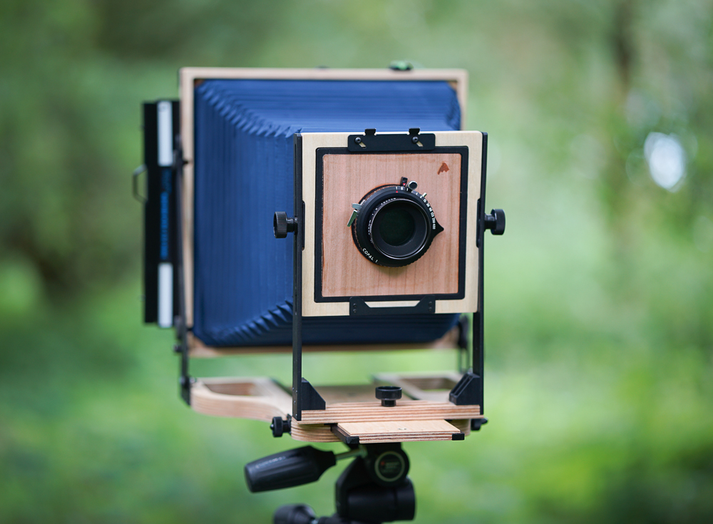The Intrepid 10x8 Field Camera, with Intrepid lens board.