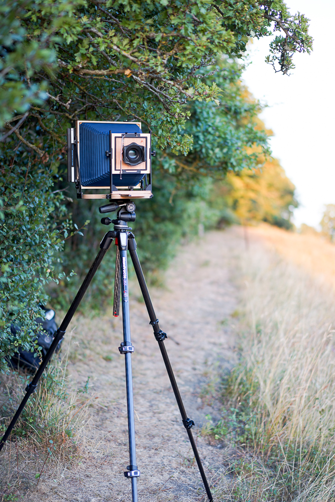 The Intrepid 10x8 Field Camera in use.