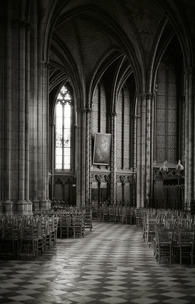 Orléans Cathedral Interior,  HP5+ in Perceptol 1+1.