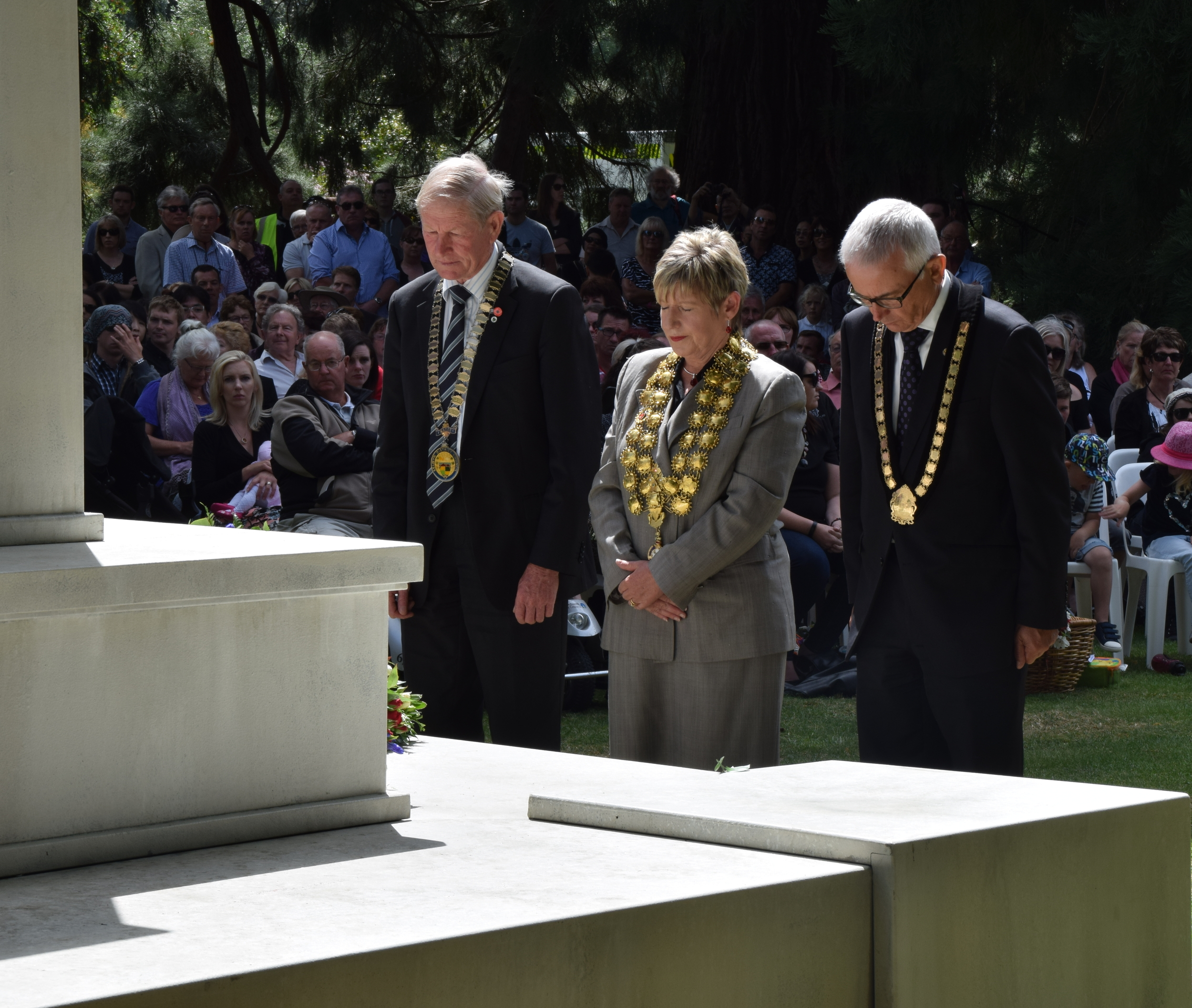 Lianne Dalziel, Mayor of Christchurch, led the city residents in paying respects to the victims of 2011 tragedy
