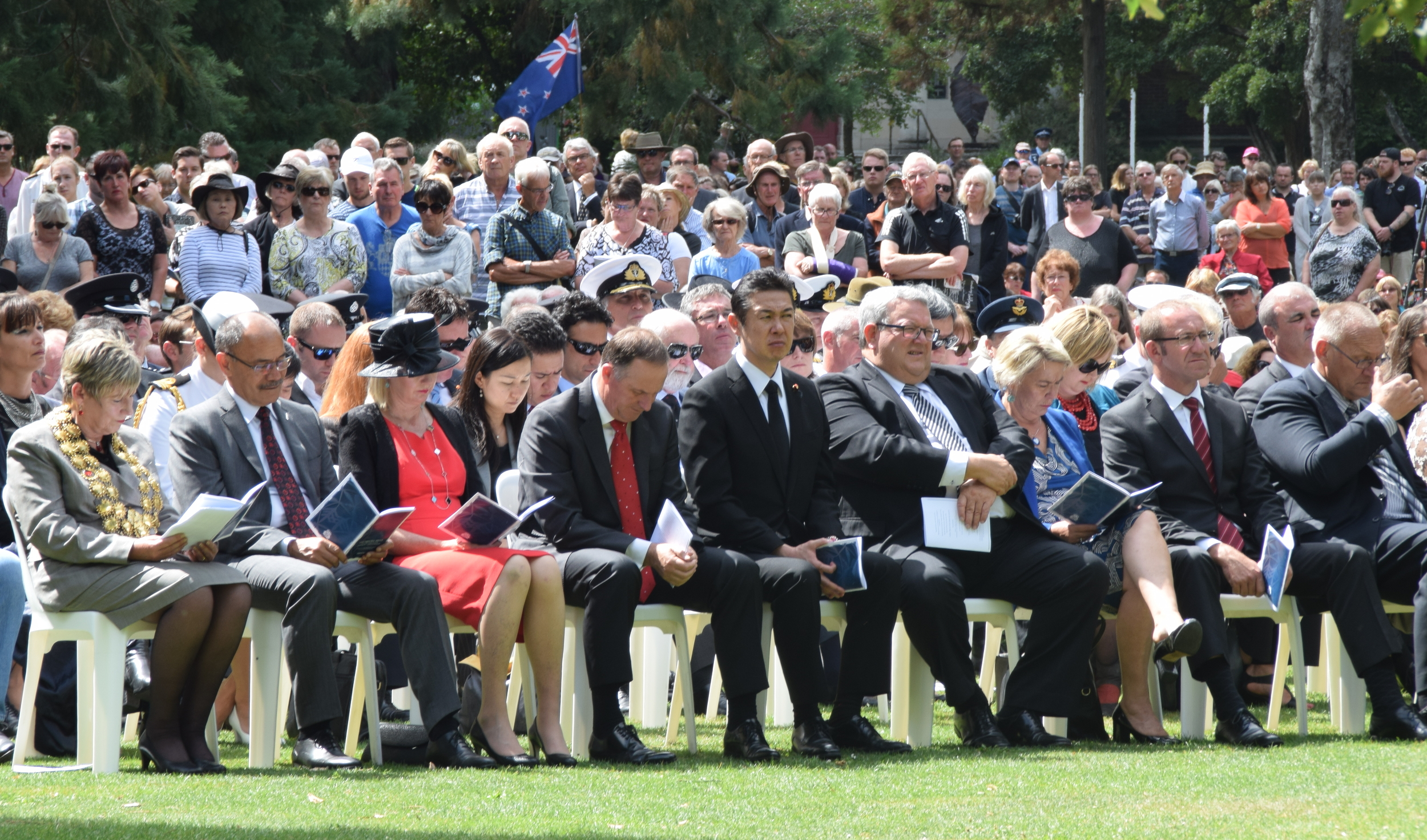 Country's political who's who were in attendance at the Civic Memorial Service