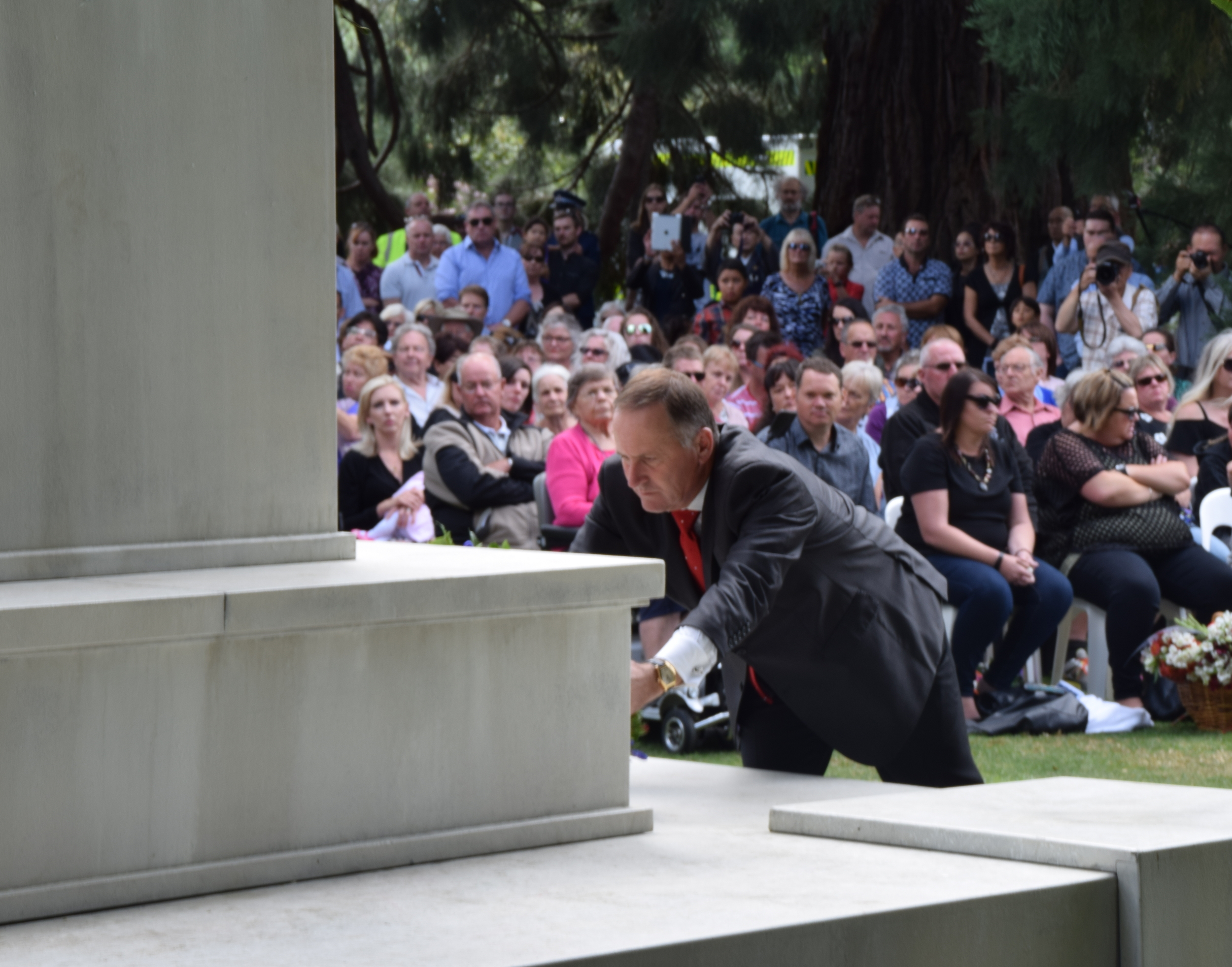 PM John Key led the nation in paying tributes to the victims