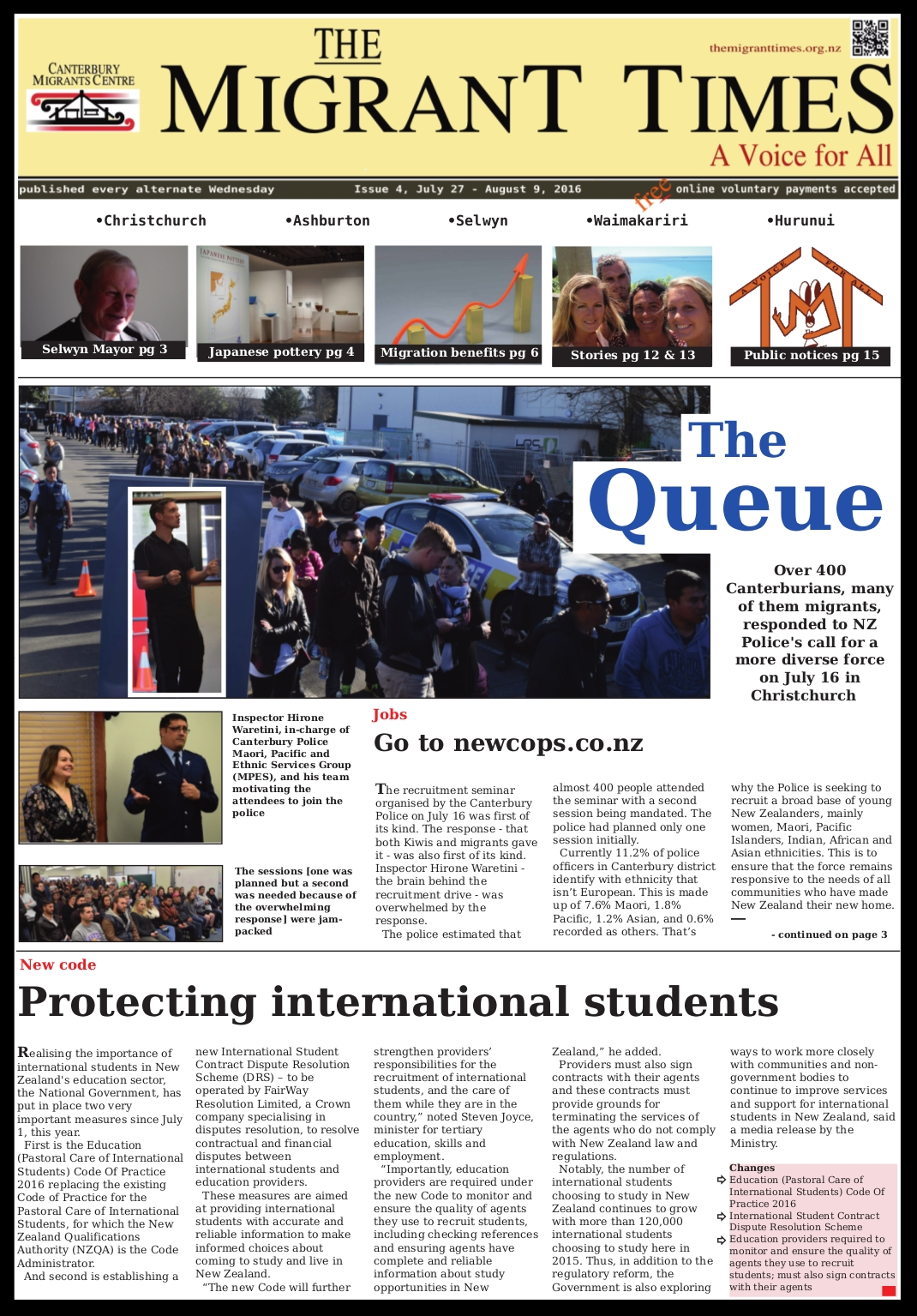 Click on the image to read the pdf version    Issue 4, July 27 - August 9, 2016