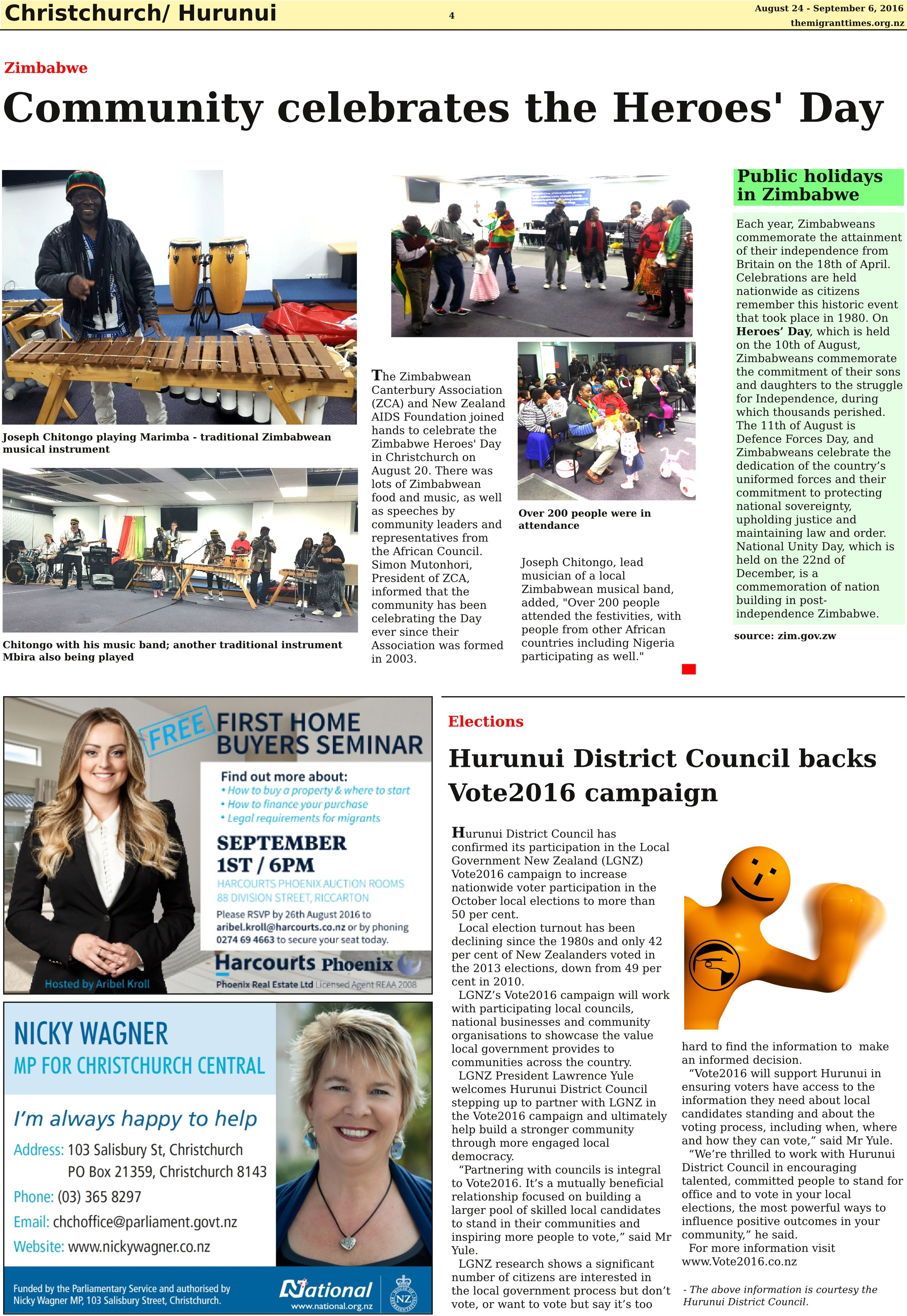 Click on the image to enlarge it and read the printed version of the story.