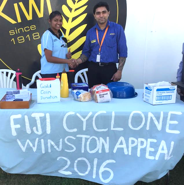 Fiji youths led by Alvina Lal, a 19-years-old student, raising funds to help the victims of Cyclone Winston.jpg