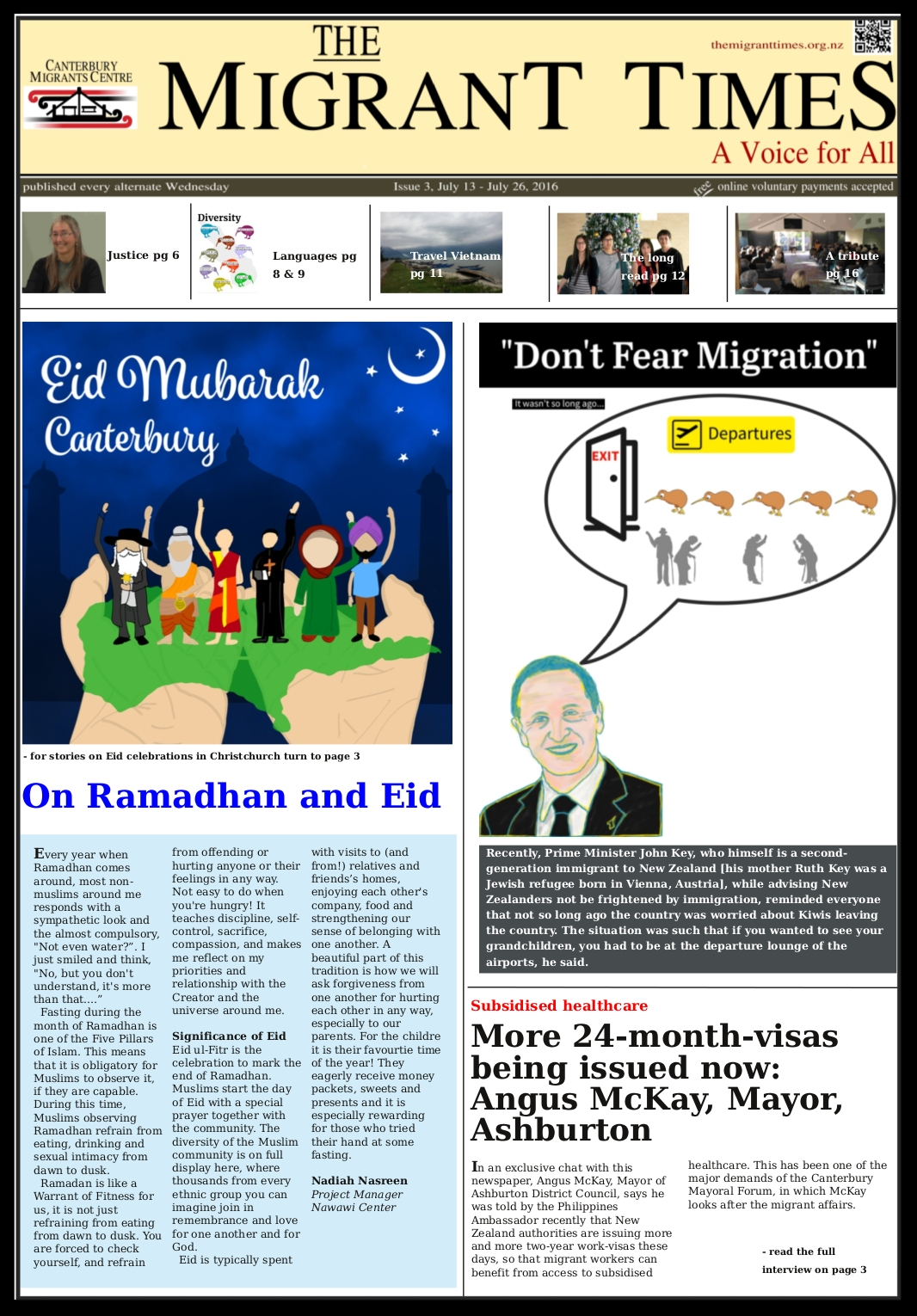 Click on the image to read the pdf version    Issue 3, July 13 - July 26, 2016