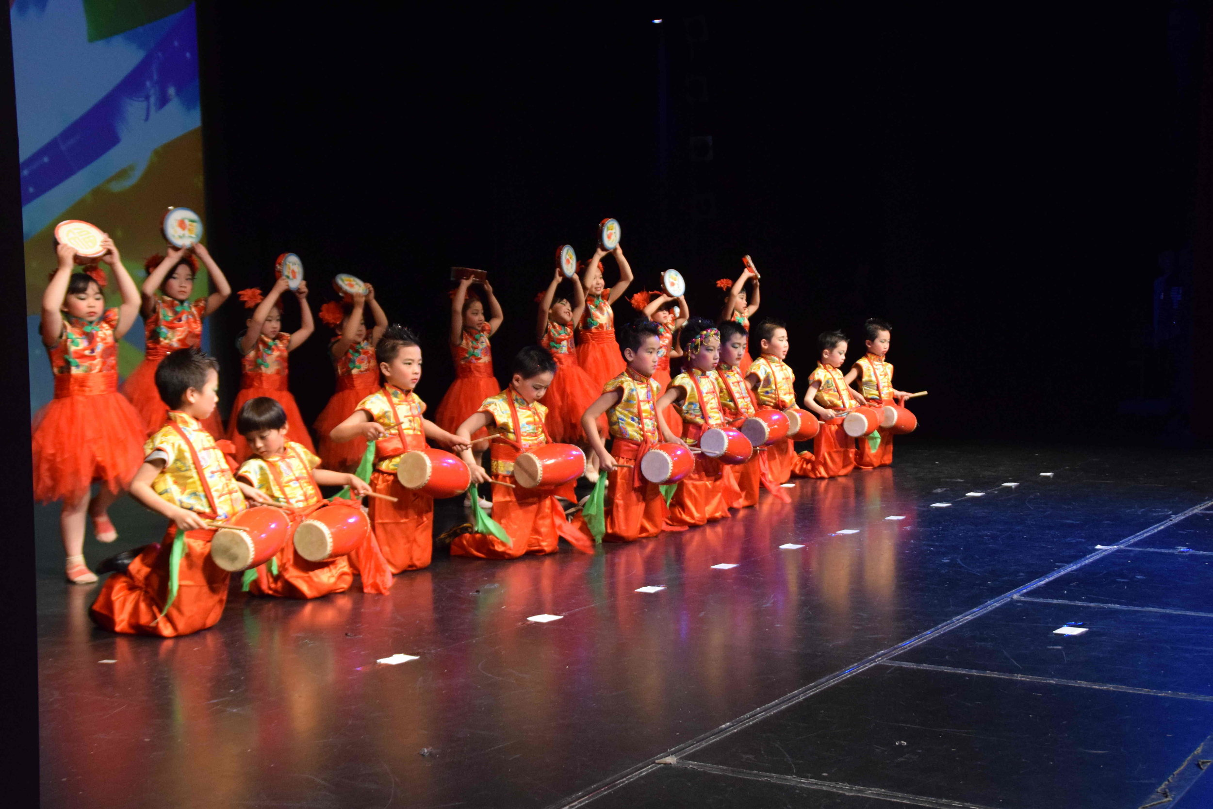 Cultural performances at the Christchurch Zhonghua Chinese Society's mid- autumn festival and 67th anniversary of the founding of the People's Republic of China