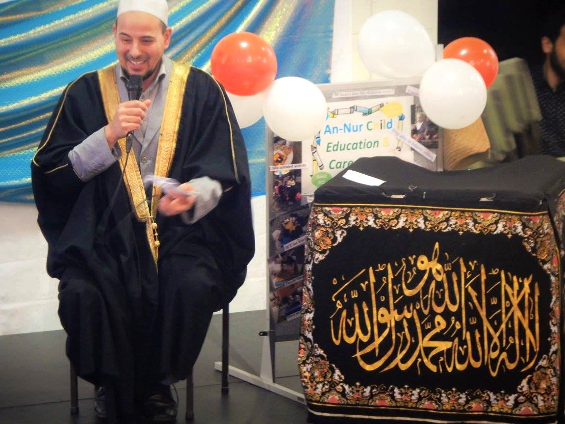 Imam Gamal of Masjid Al Noor, Christchurch, addressing the gathering