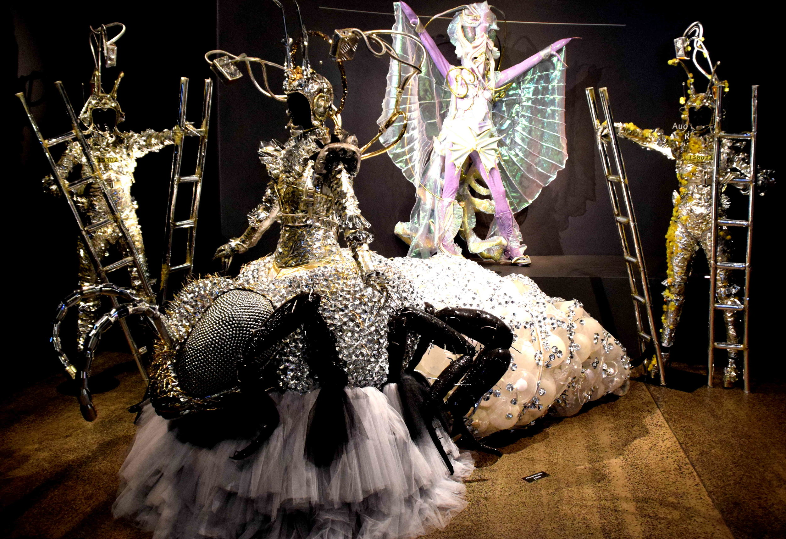 A previous year's award winning WearableArt garment on display in the gallery