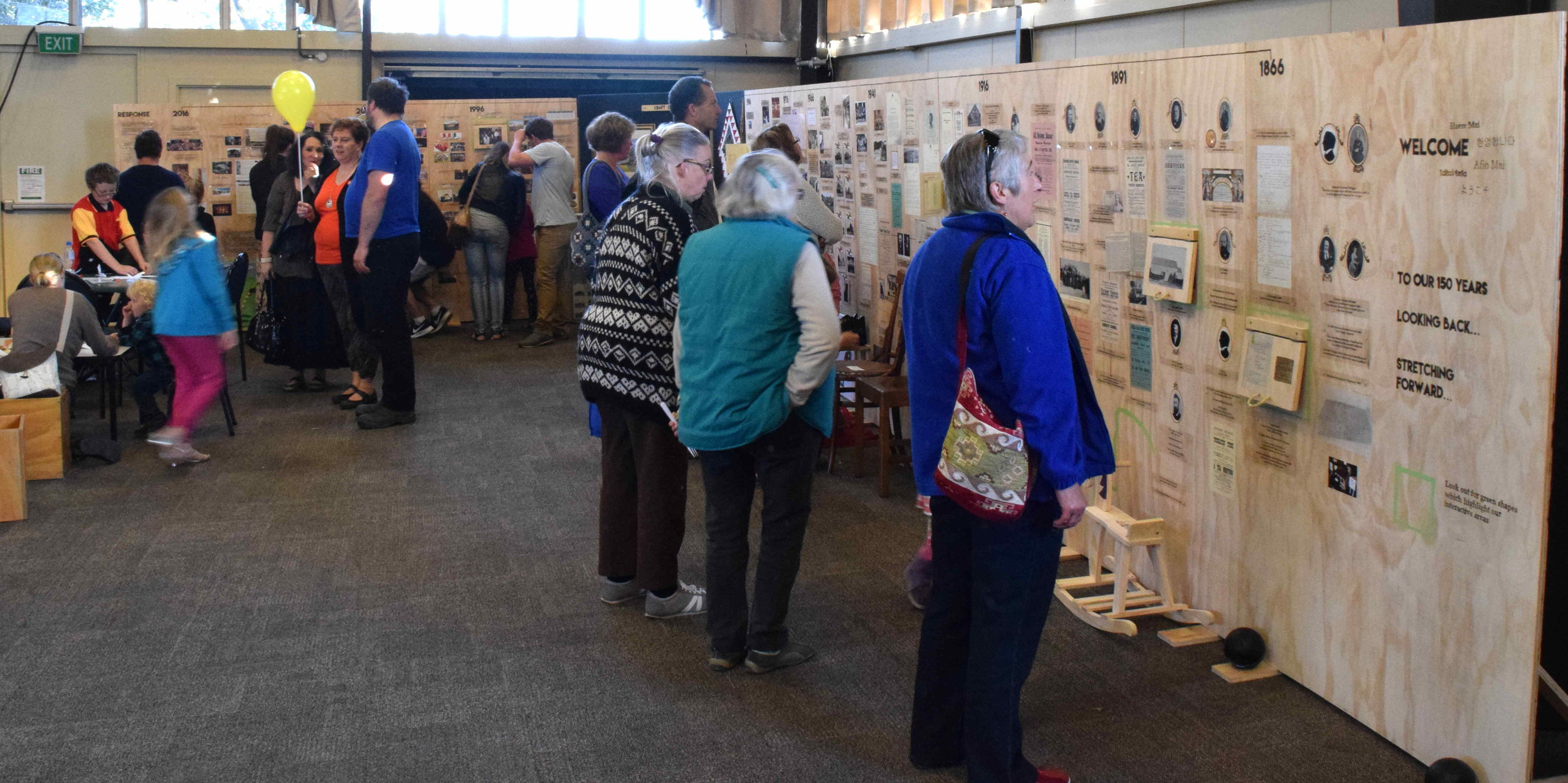 The exhibit detailing history of the Church