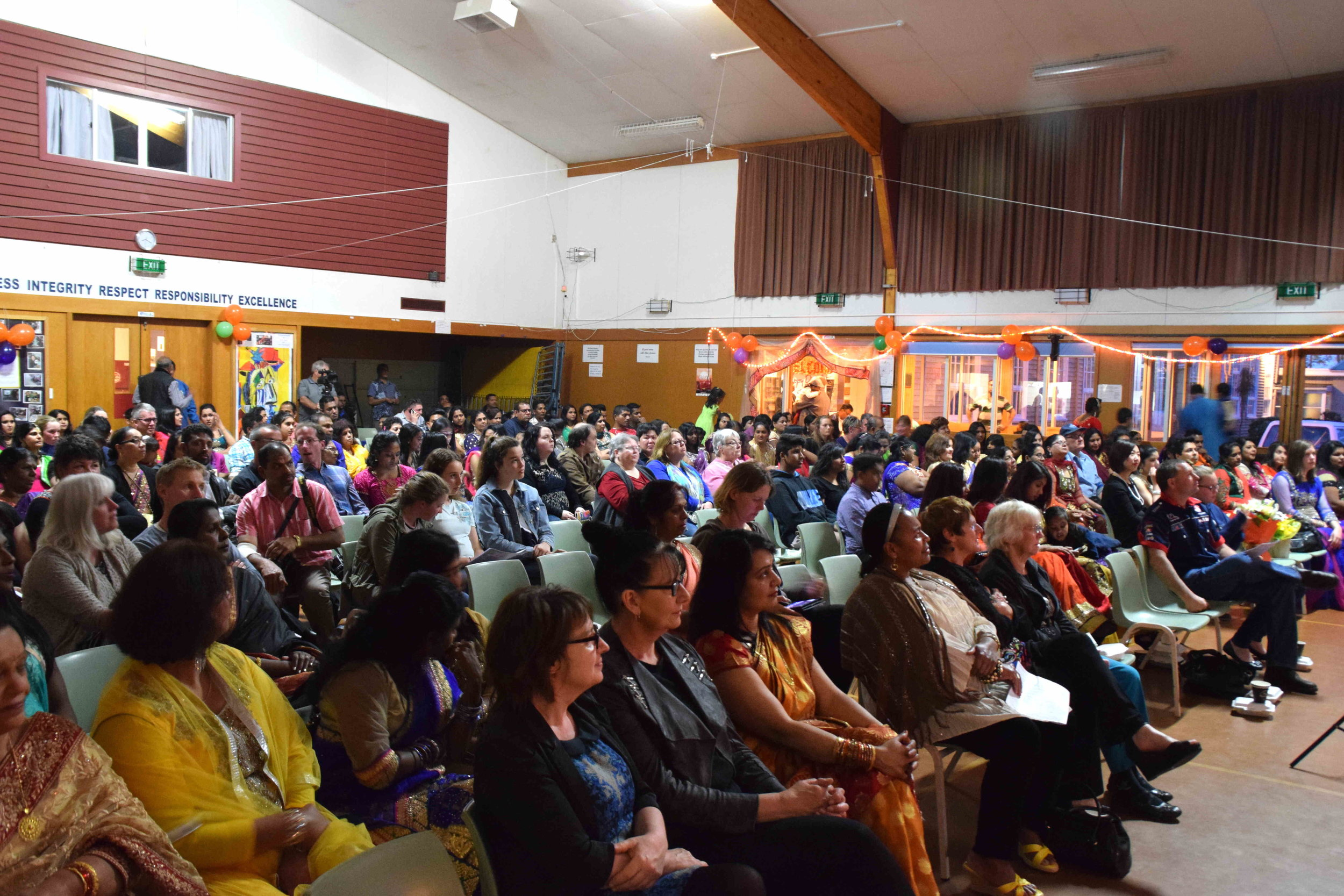 The capacity crowd from all communities was entertained for close to four hours