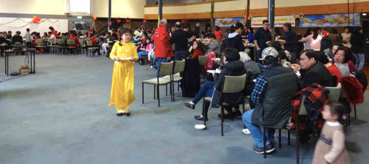Guests were treated to traditional Vietnamese food along with various song and dance performances