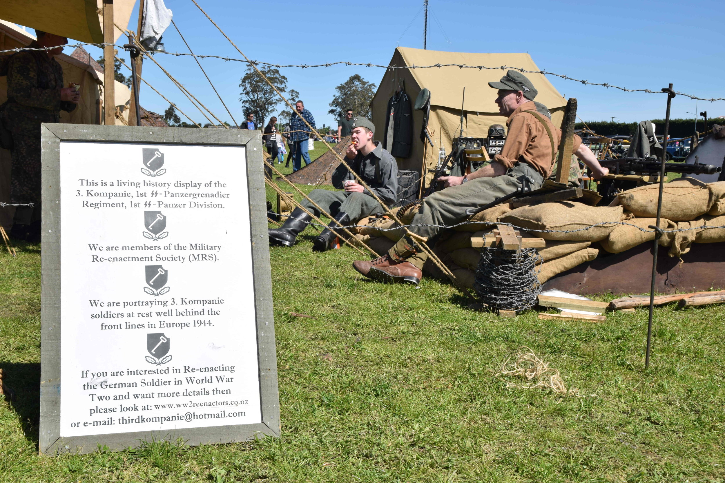 Living history display by Military Re-enactment Society