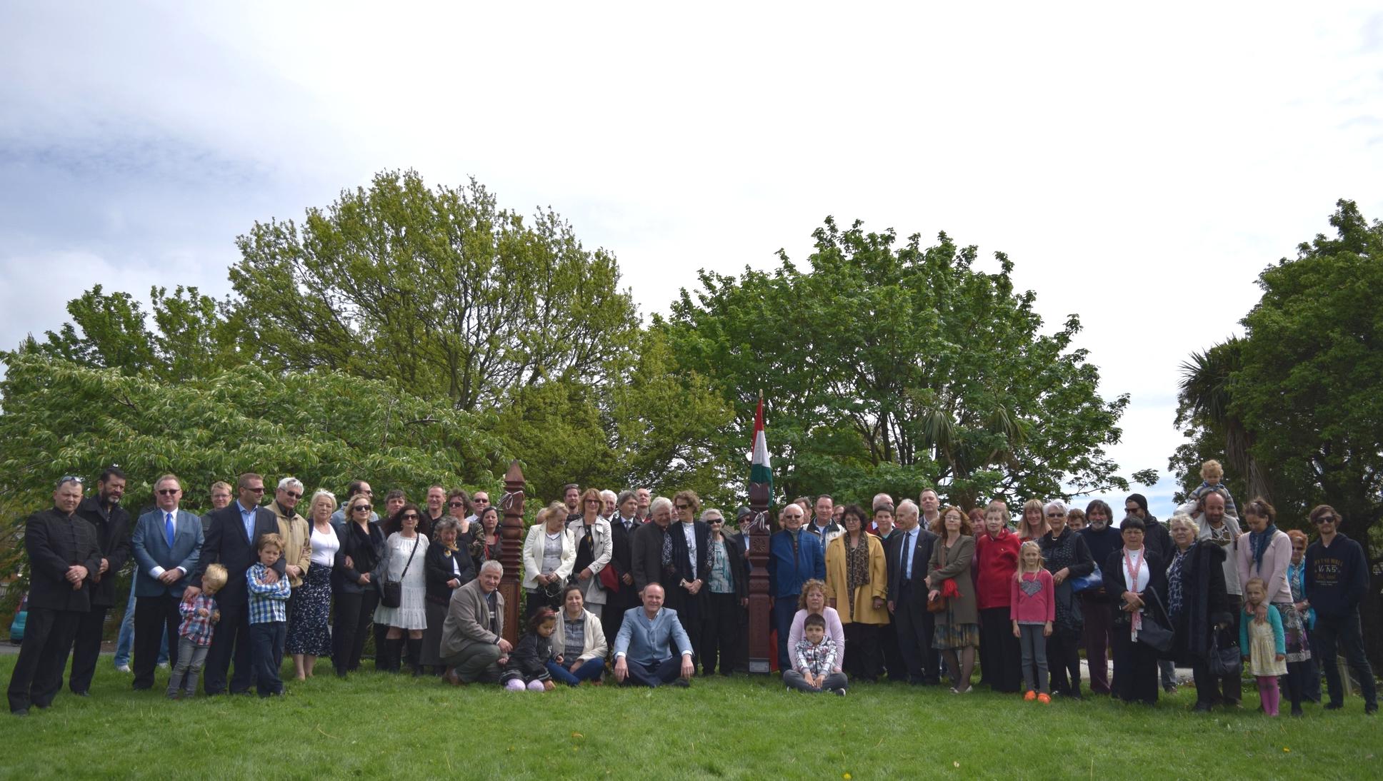 Members of the Hungarian Club of Christchurch