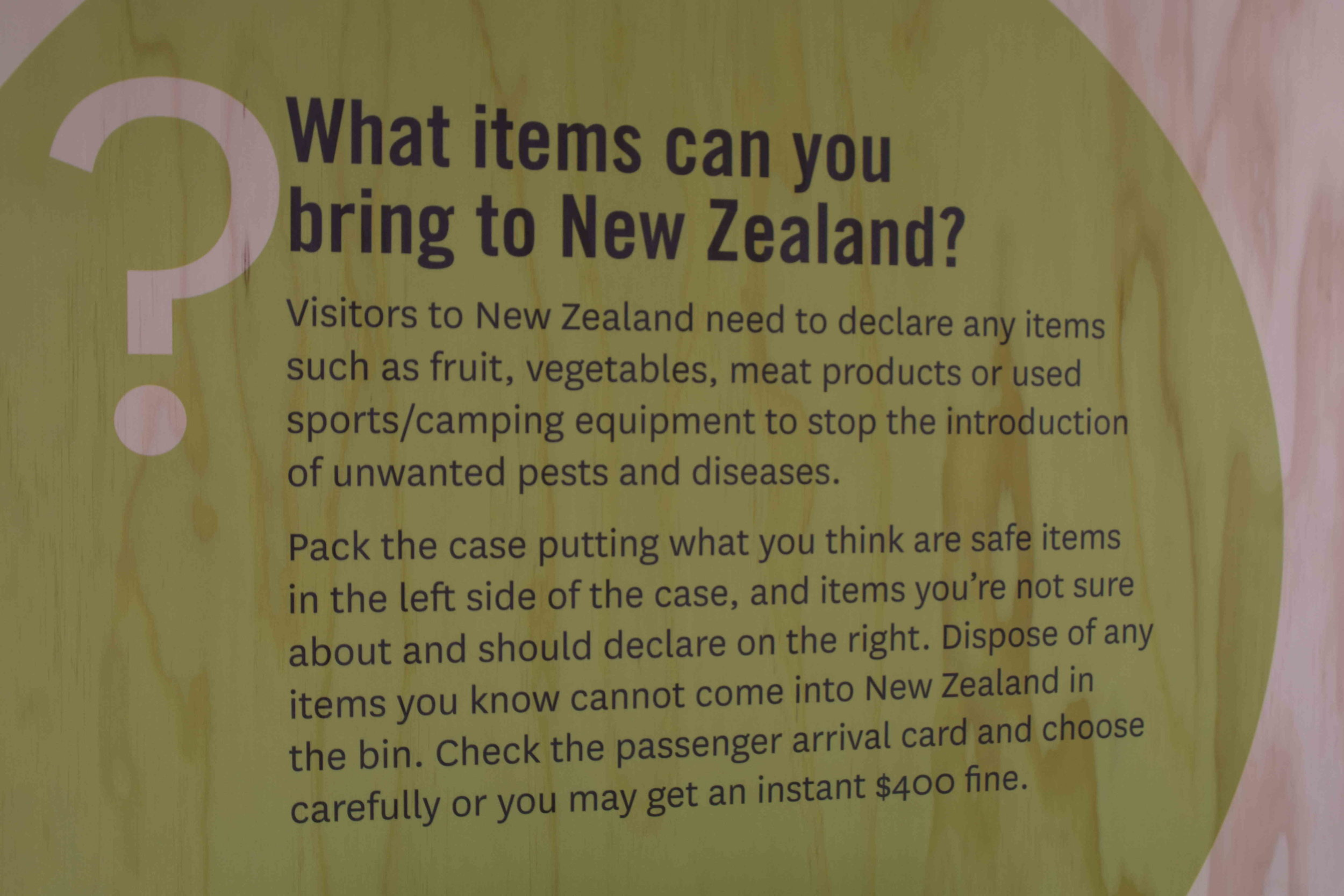 Ministry of Primary Industries' stall - while having information on how people can contribute towards protecting the flora and fauna of New Zealand, also educated recent migrants on what items can be brought to the country