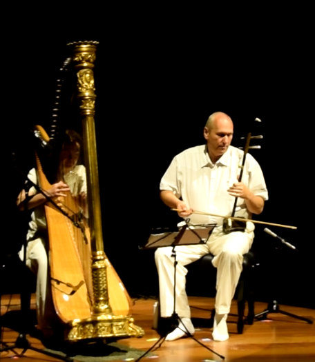 Mandu and Visuddhi on traditional Chinese Erhu with its haunting sound and the dynamic beauty of the classical Harp
