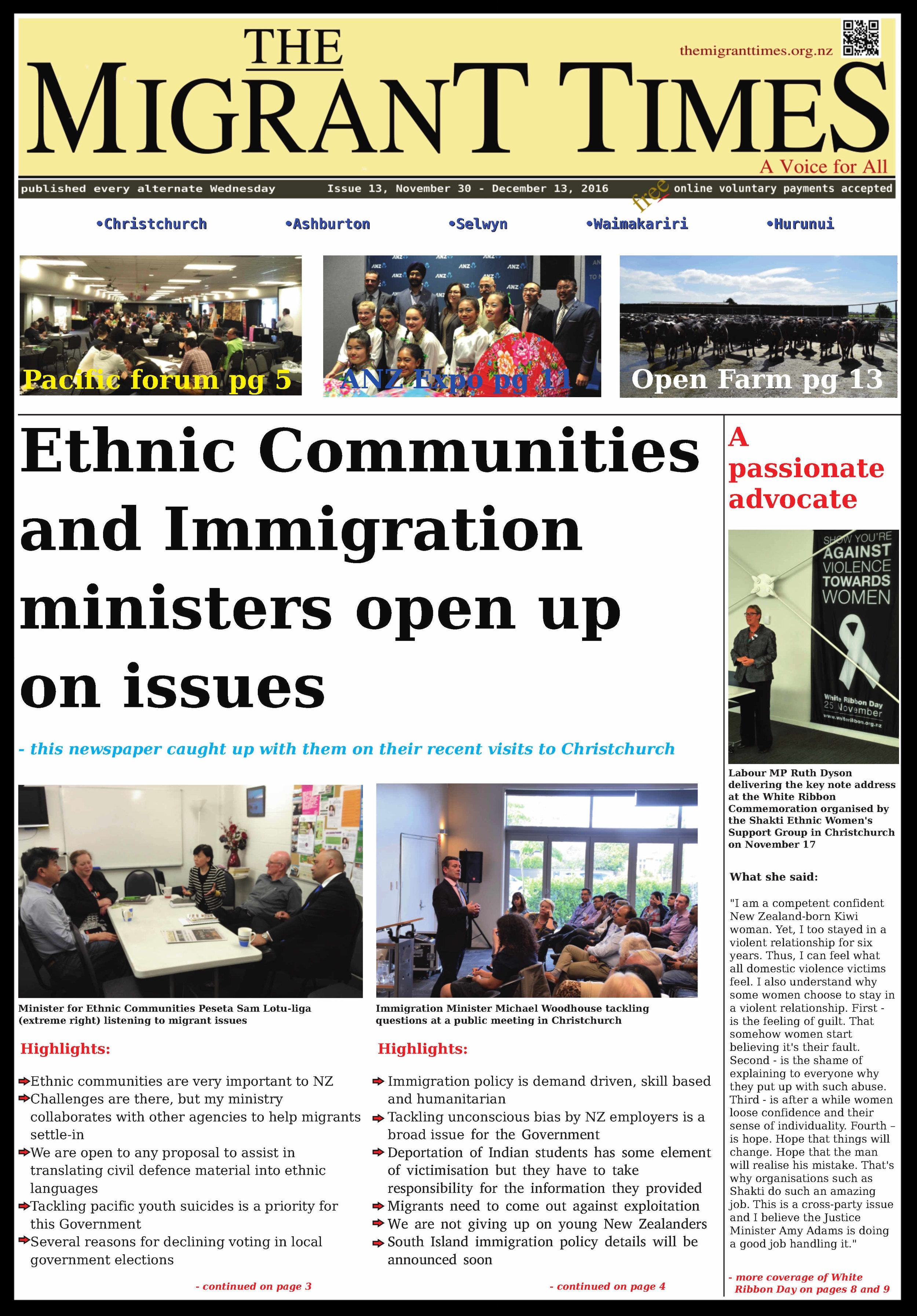 Click on the image to read the pdf version    Issue 13, November 30 - December 13, 2016