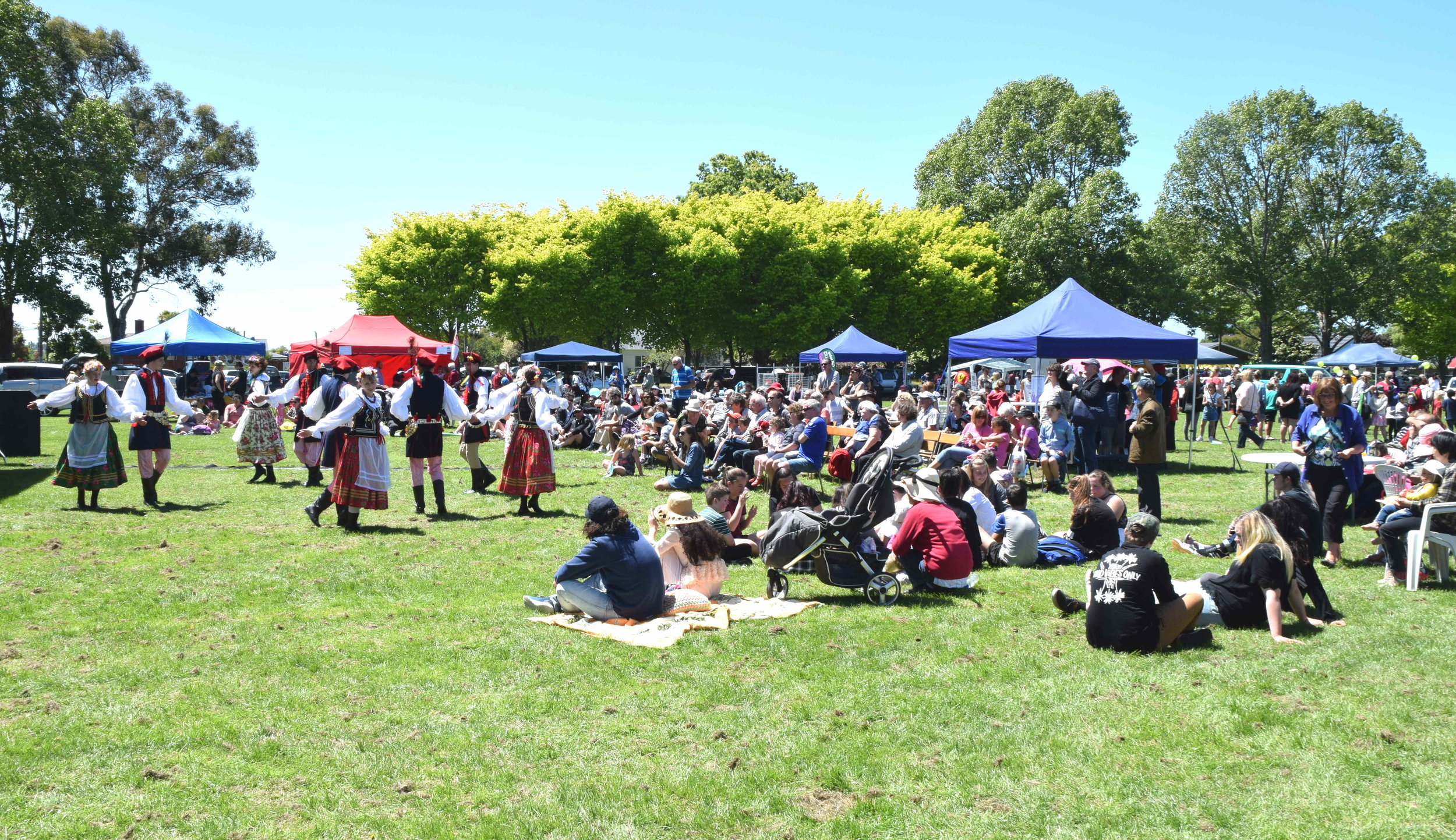 Polonus Polish Folk Dance entertaining the gathering at Celebrate Bishopdale 2016 in Christchurch on November 20