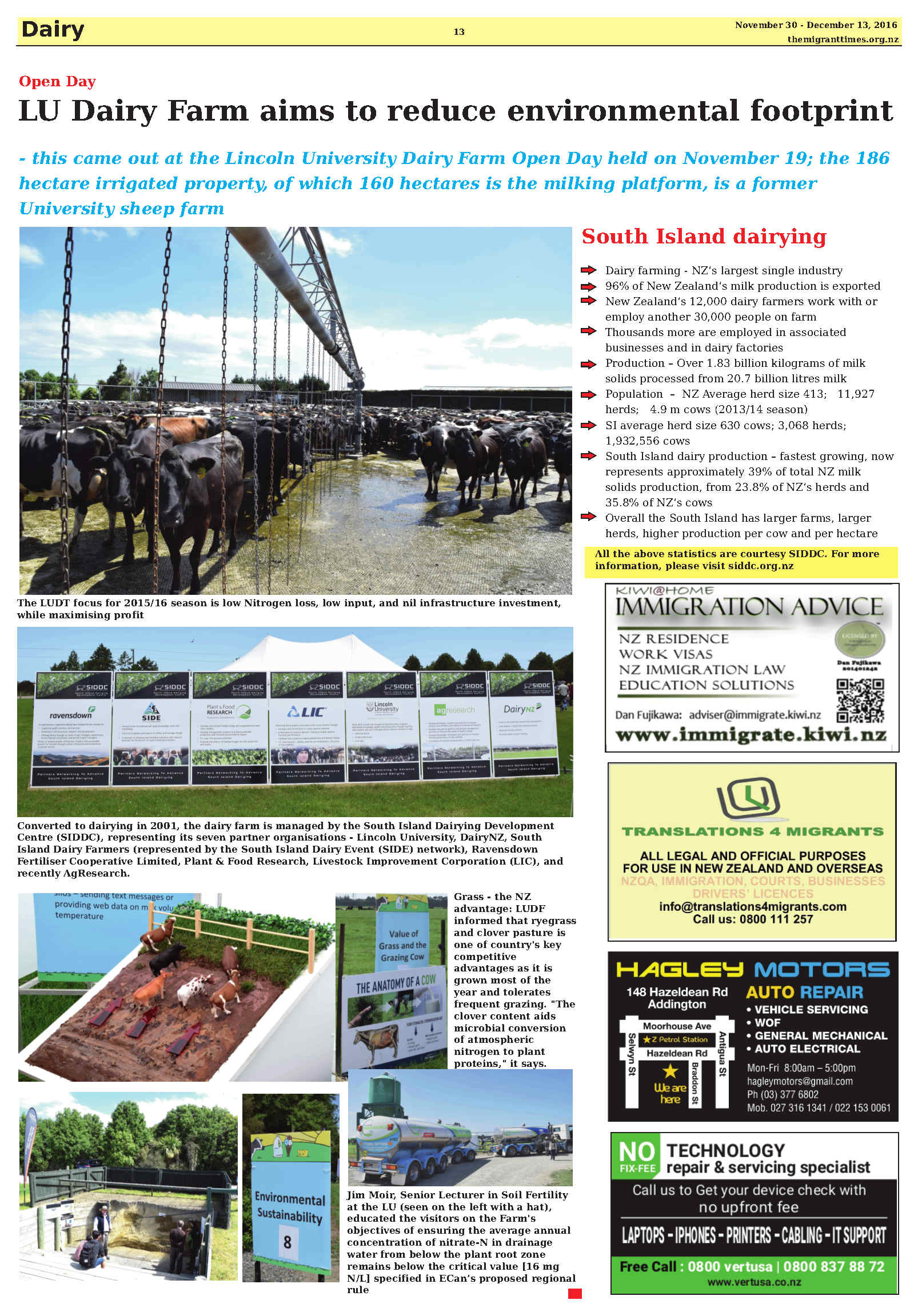 Click on the image to enlarge it and read the printed version of the story