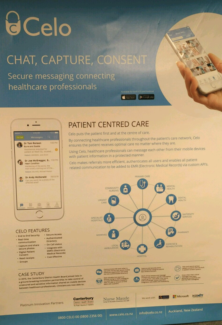 Celo - the app to connect healthcare professionals ensuring patients receive optimal care everytime