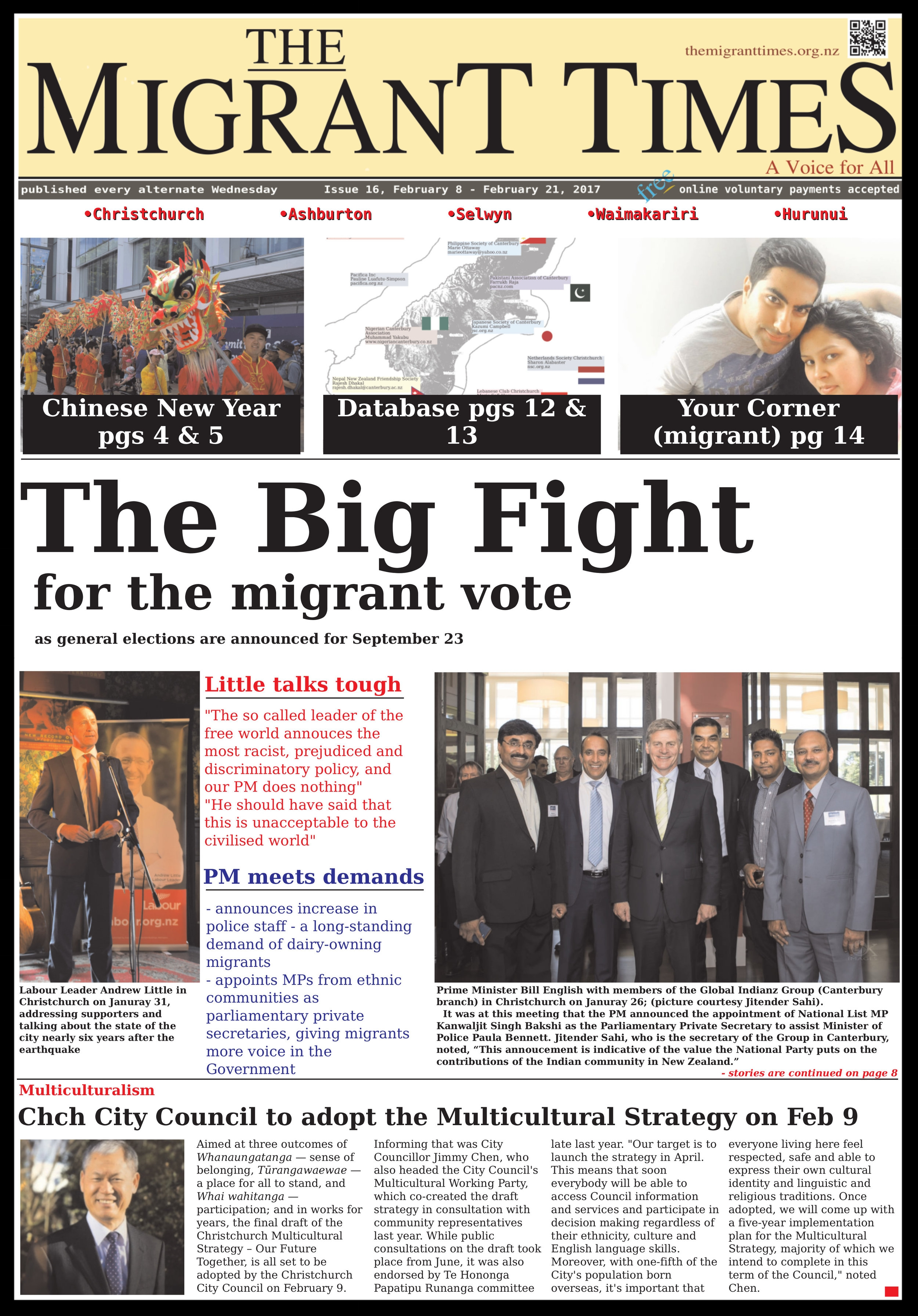 Click on the image to read the pdf version    Issue 16, February 8 - February 21, 2017