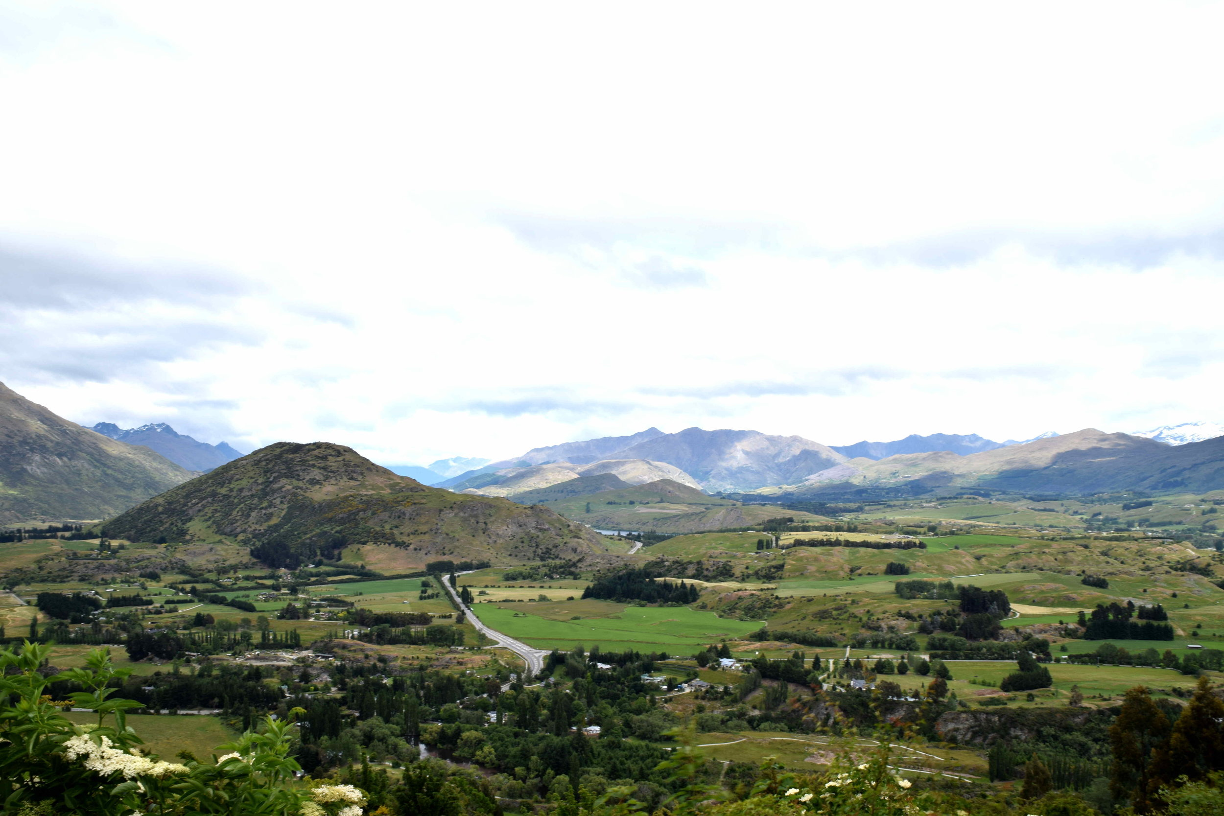From Queenstown to Wanaka through the Crown Range Road.